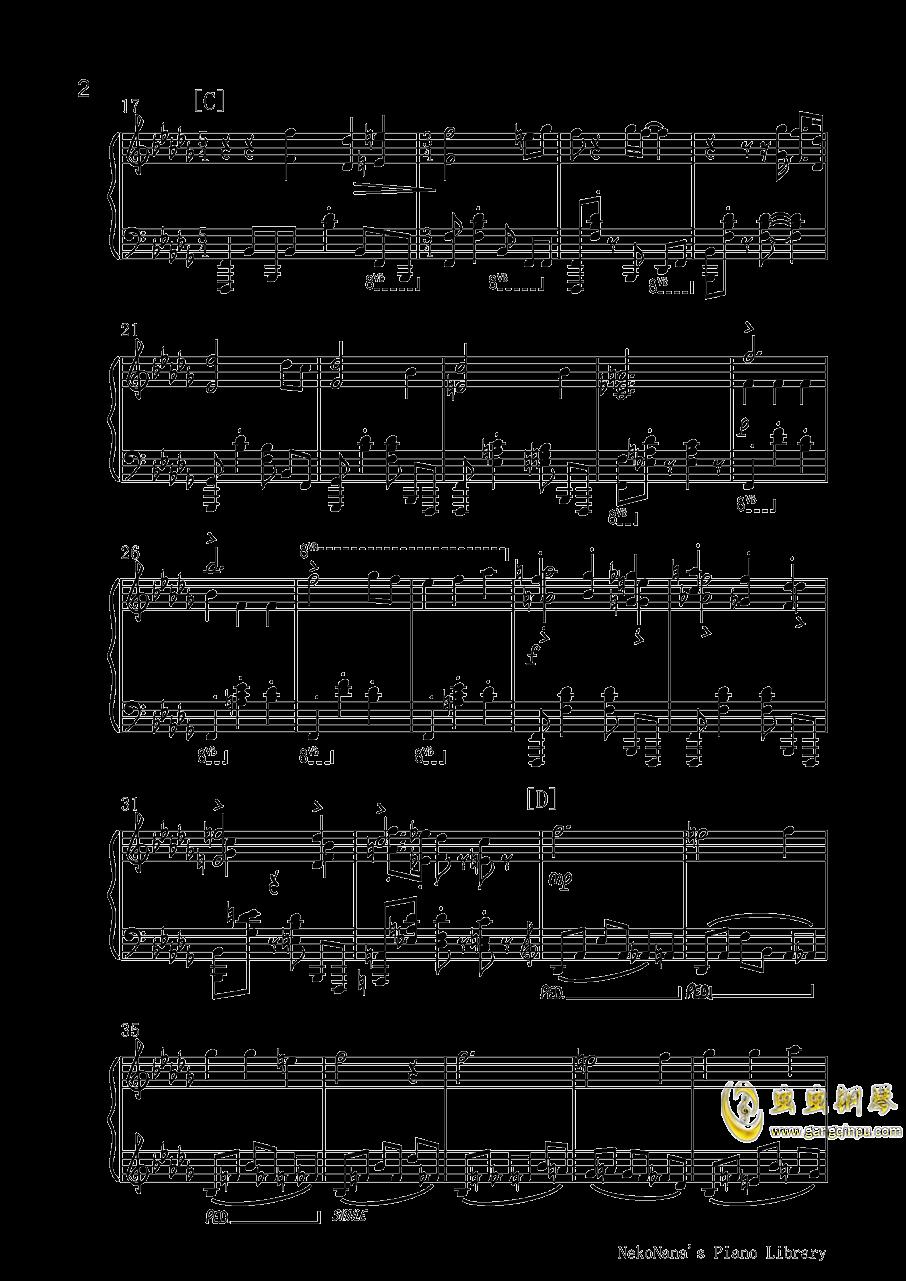 仇恨的华尔兹钢琴谱 第2页