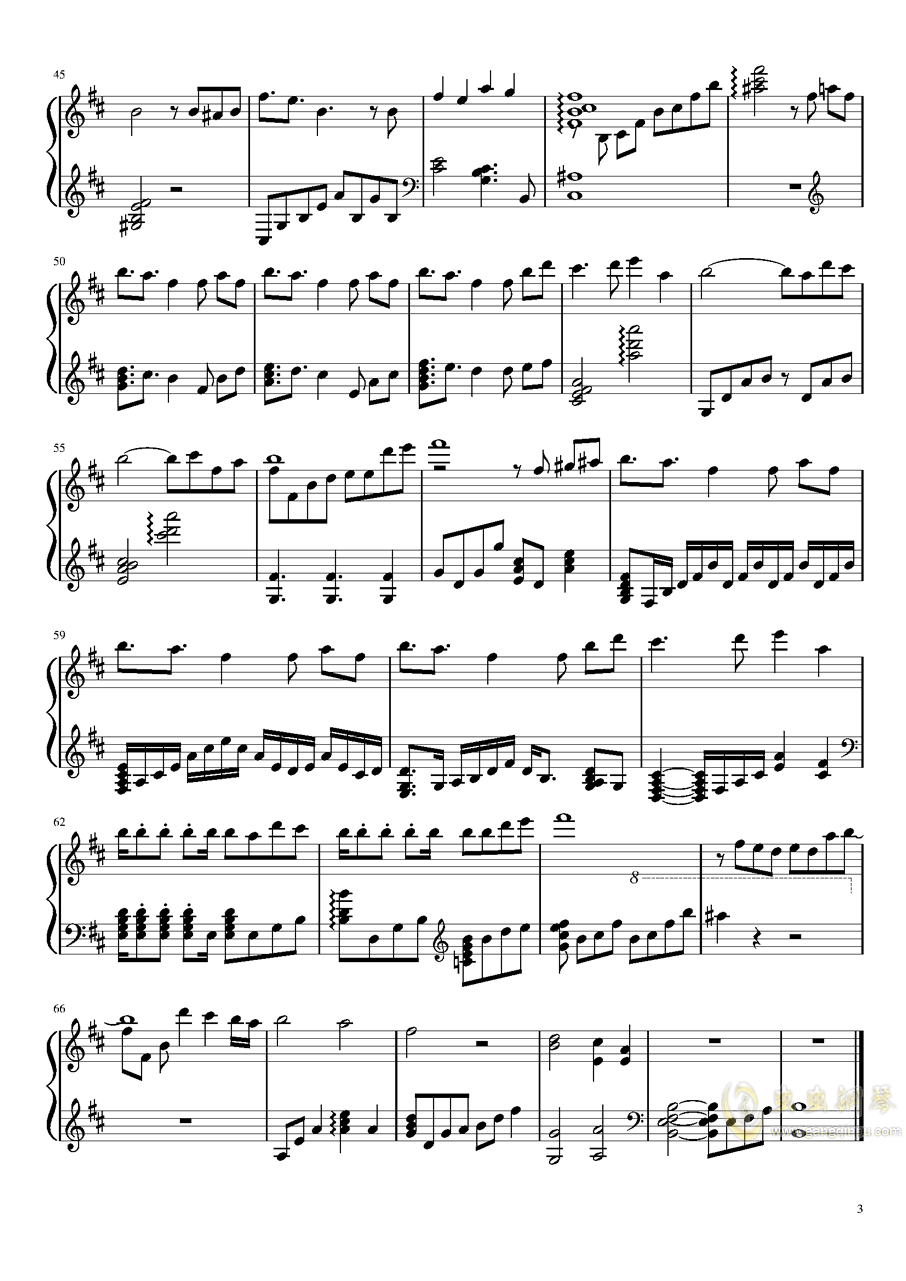 斯佩比亚帝国)钢琴谱 第3页