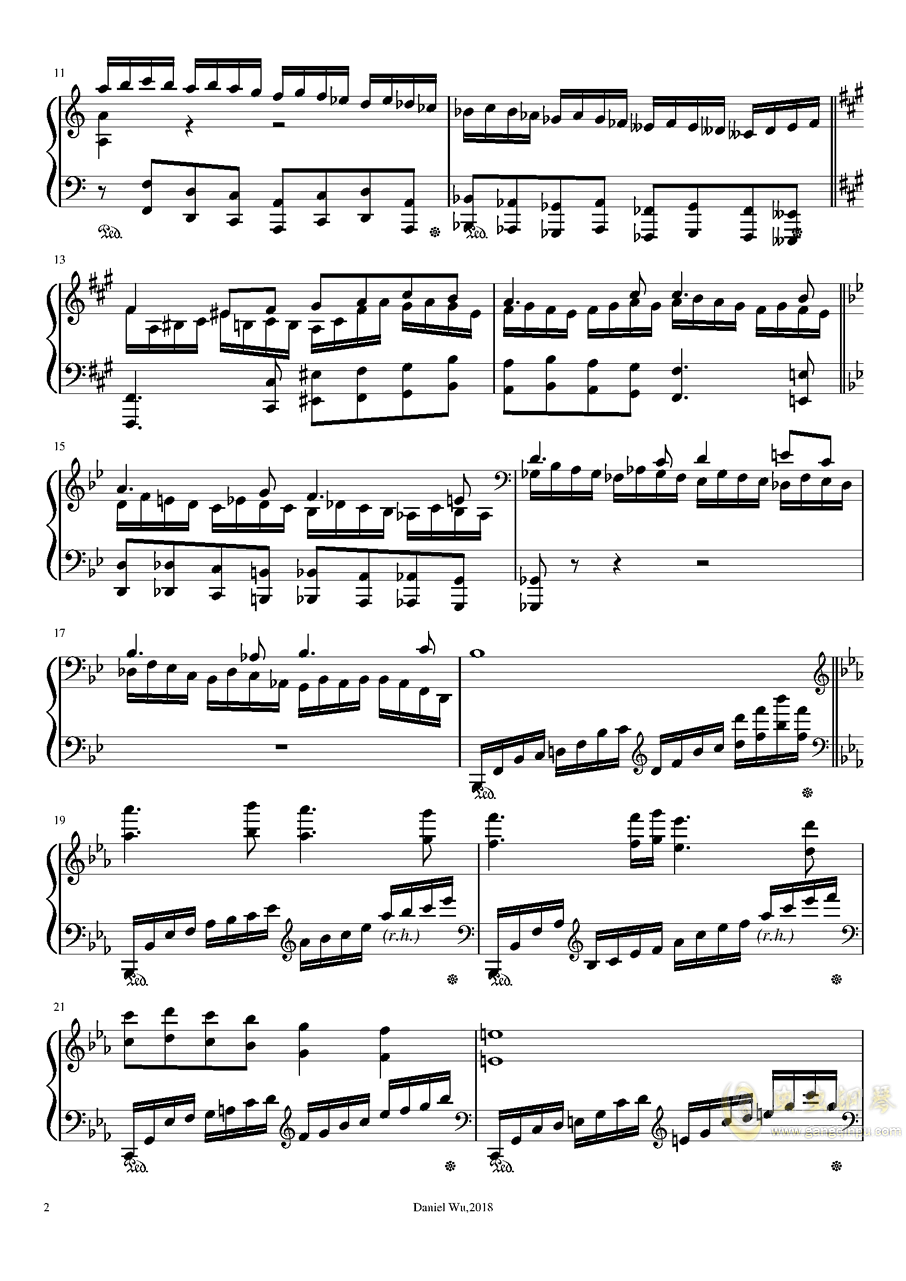a小调即兴练习曲钢琴谱 第2页