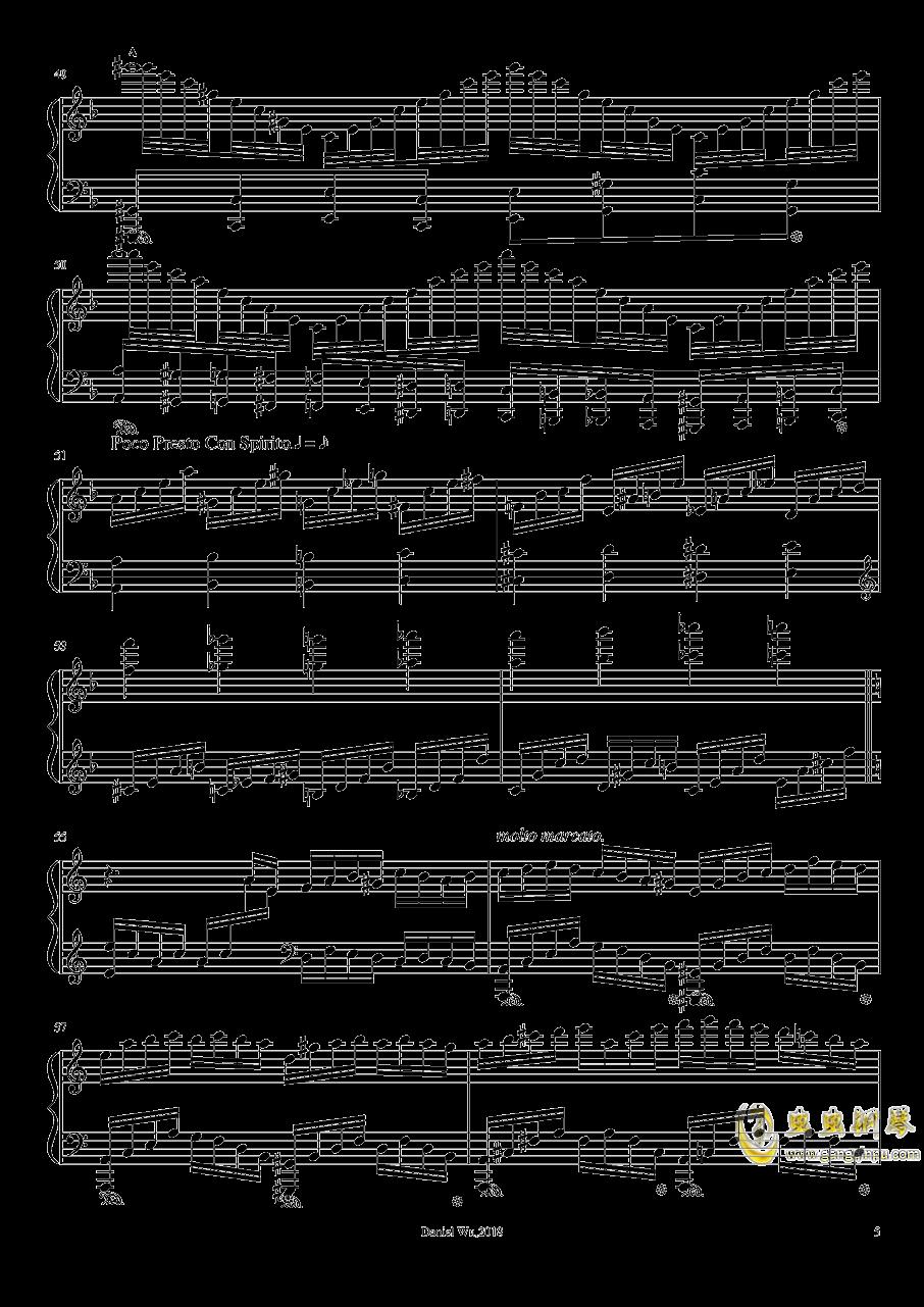 a小调即兴练习曲钢琴谱 第5页