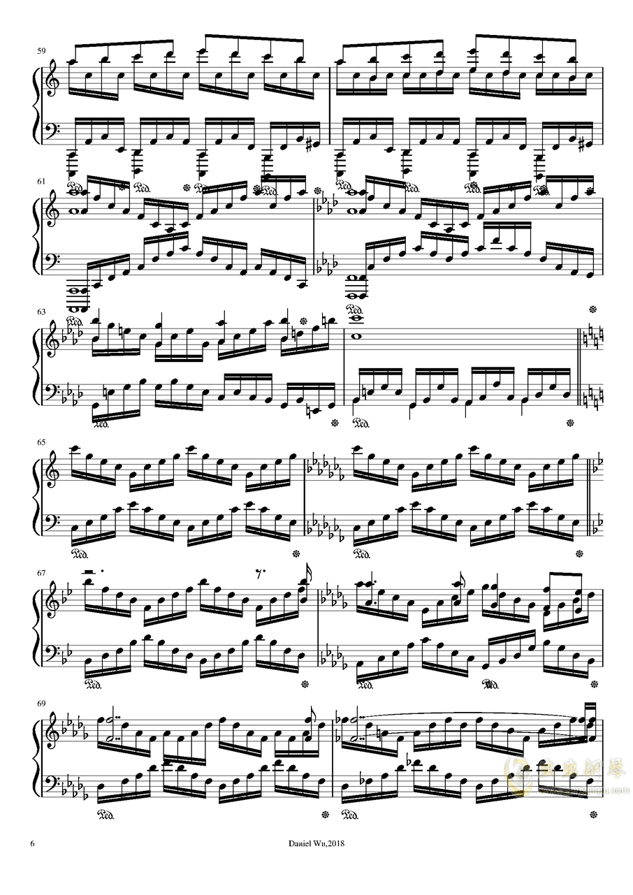 a小调即兴练习曲钢琴谱 第6页