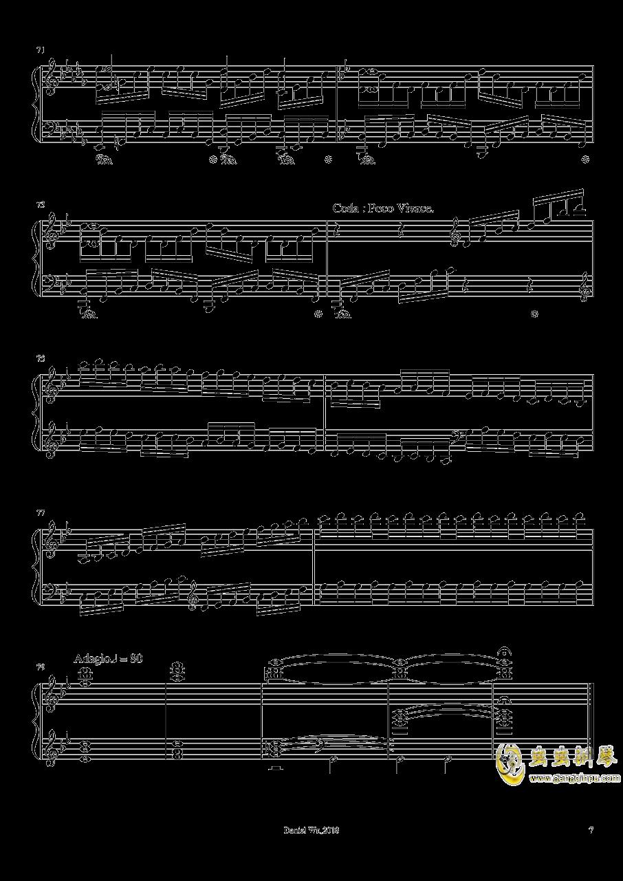 a小调即兴练习曲钢琴谱 第7页