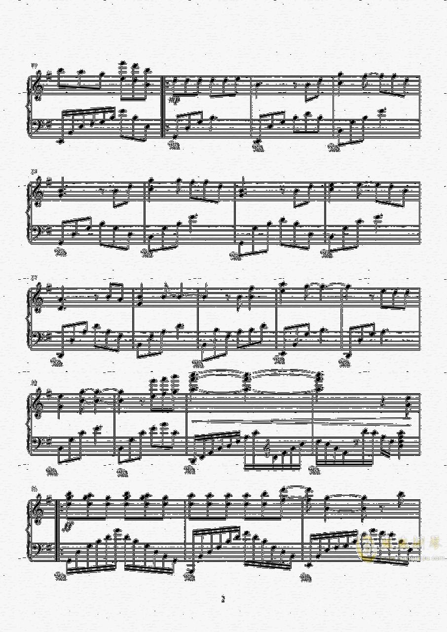 情深深雨蒙蒙钢琴谱 第2页