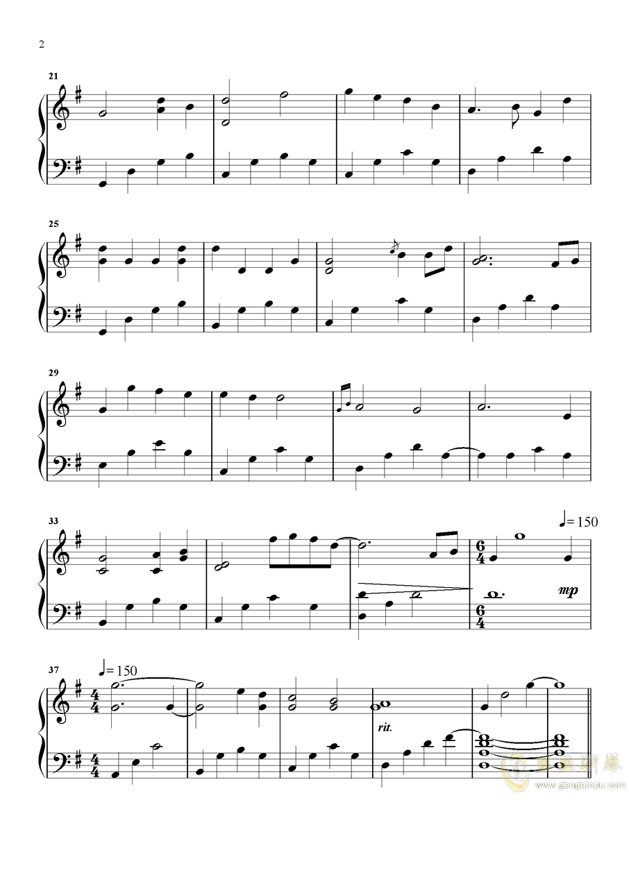 But You钢琴谱 第2页