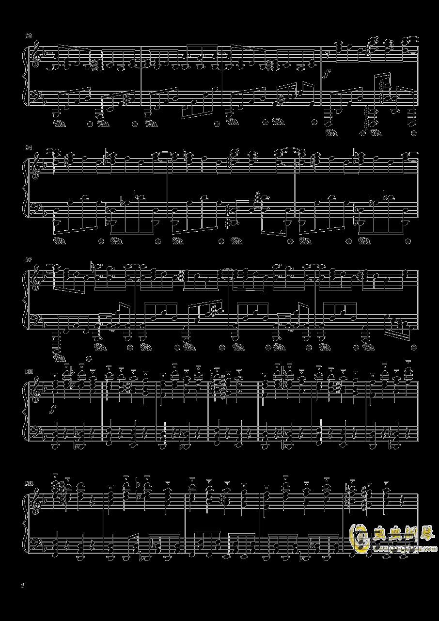 平安时代的哈德曼的妖怪少女就是她吗?钢琴谱 第6页
