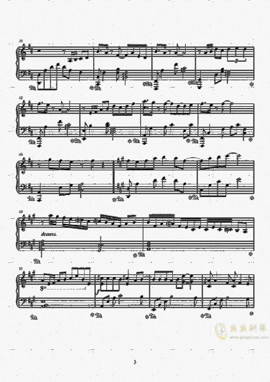 纸短情长钢琴谱 第3页