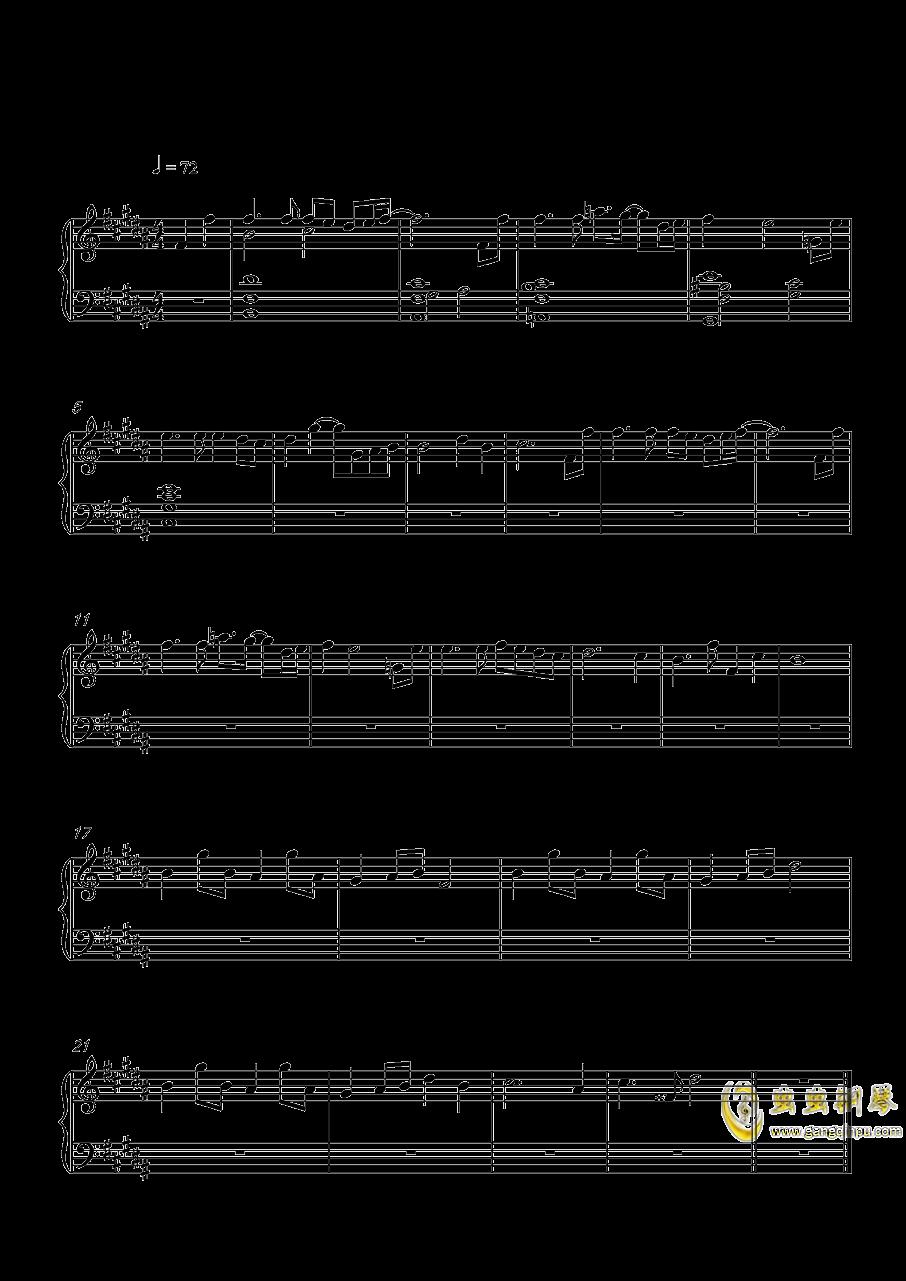 溯回钢琴谱 第1页