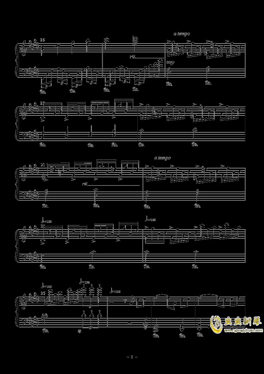 幽樱幻想曲钢琴谱 第2页