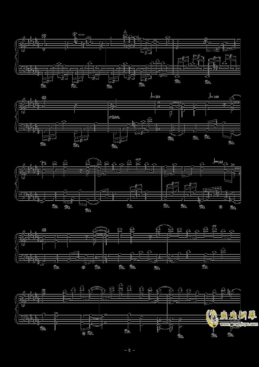 幽樱幻想曲钢琴谱 第5页