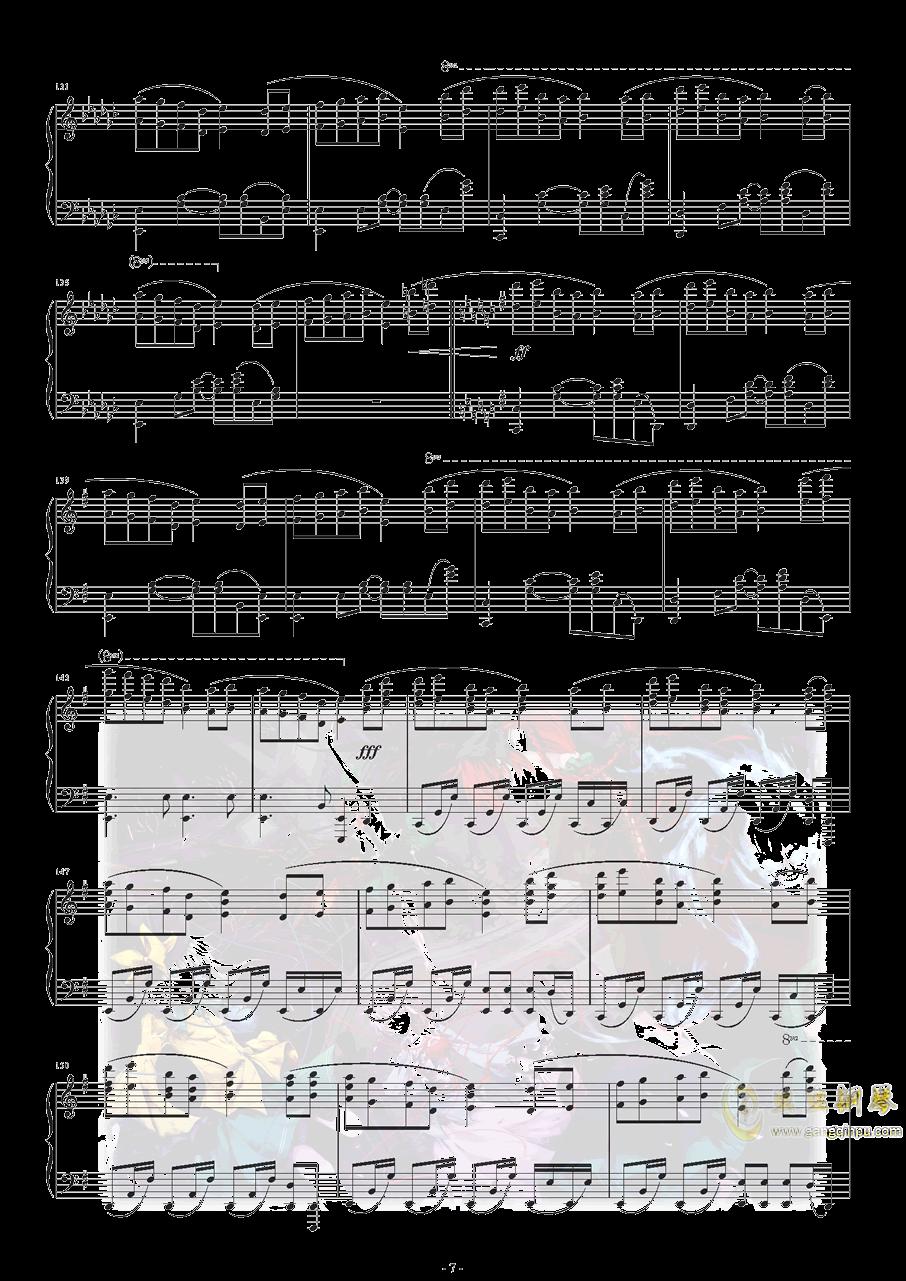 Bad Apple钢琴谱 第8页