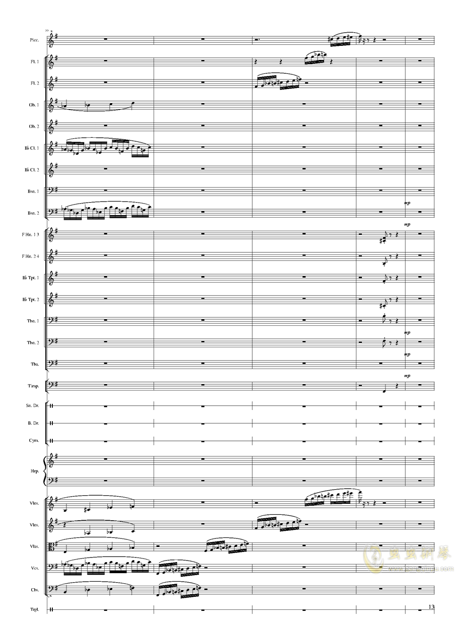 Capriccio Brilliant in E Minor, Op.94 II.Dance of summer (Scherzo)钢琴谱 第13页