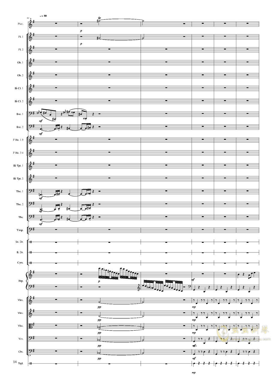 Capriccio Brilliant in E Minor, Op.94 II.Dance of summer (Scherzo)钢琴谱 第14页