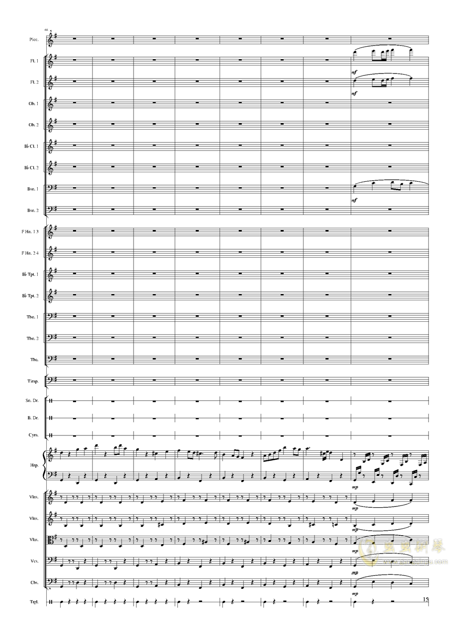 Capriccio Brilliant in E Minor, Op.94 II.Dance of summer (Scherzo)钢琴谱 第15页