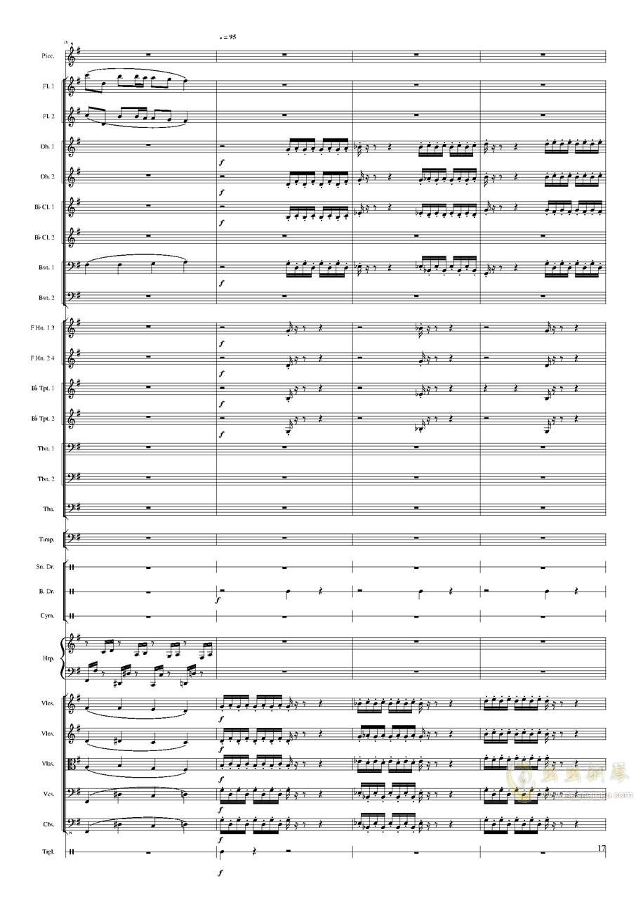 Capriccio Brilliant in E Minor, Op.94 II.Dance of summer (Scherzo)钢琴谱 第17页