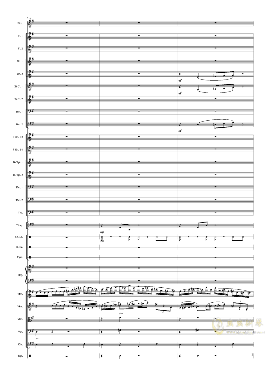 Capriccio Brilliant in E Minor, Op.94 II.Dance of summer (Scherzo)钢琴谱 第3页