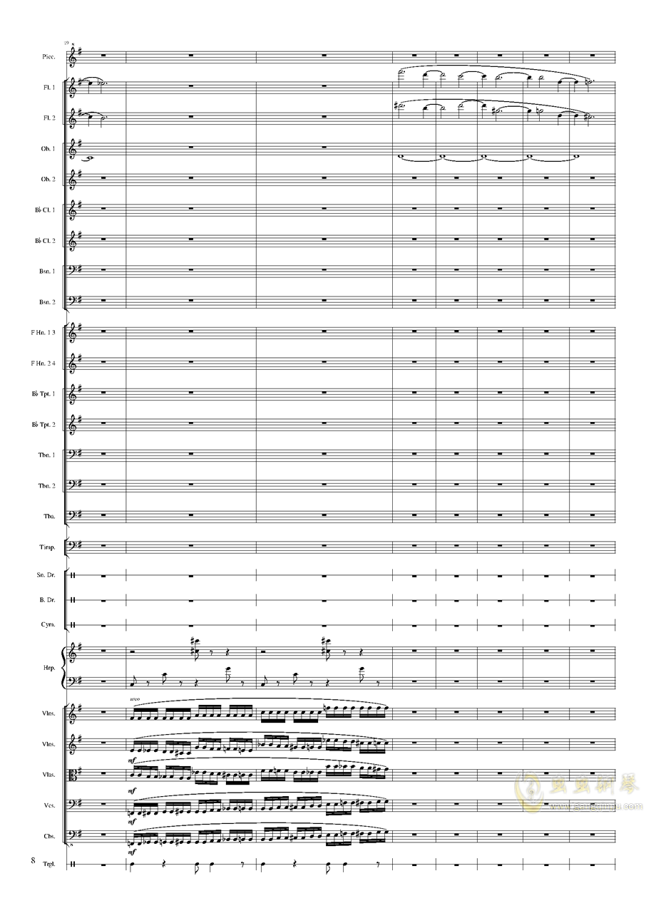 Capriccio Brilliant in E Minor, Op.94 II.Dance of summer (Scherzo)钢琴谱 第8页