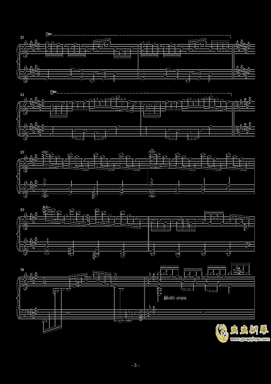 钢琴幻想曲钢琴谱 第2页
