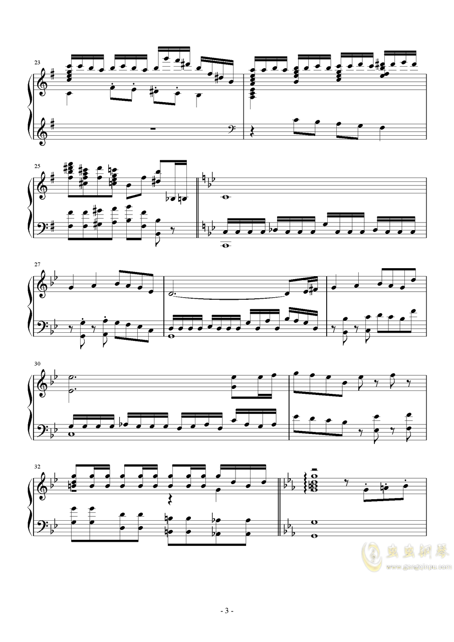 钢琴幻想曲钢琴谱 第3页