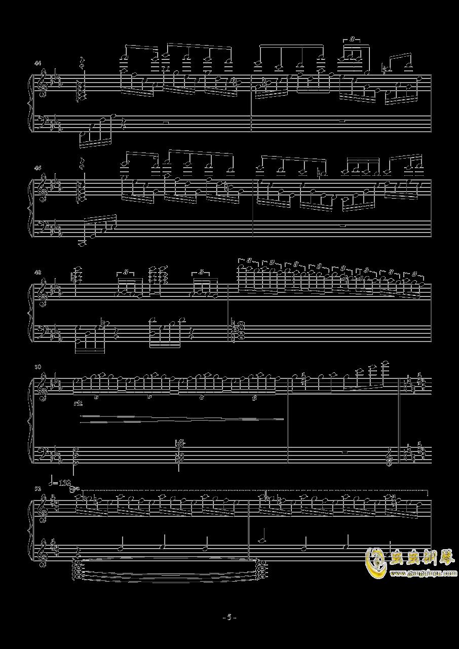 钢琴幻想曲钢琴谱 第5页