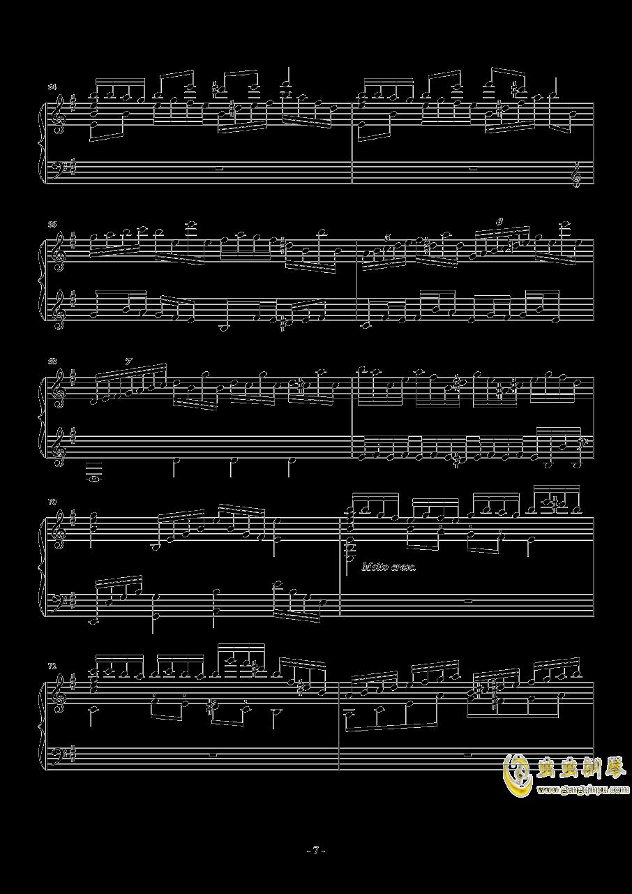 钢琴幻想曲钢琴谱 第7页