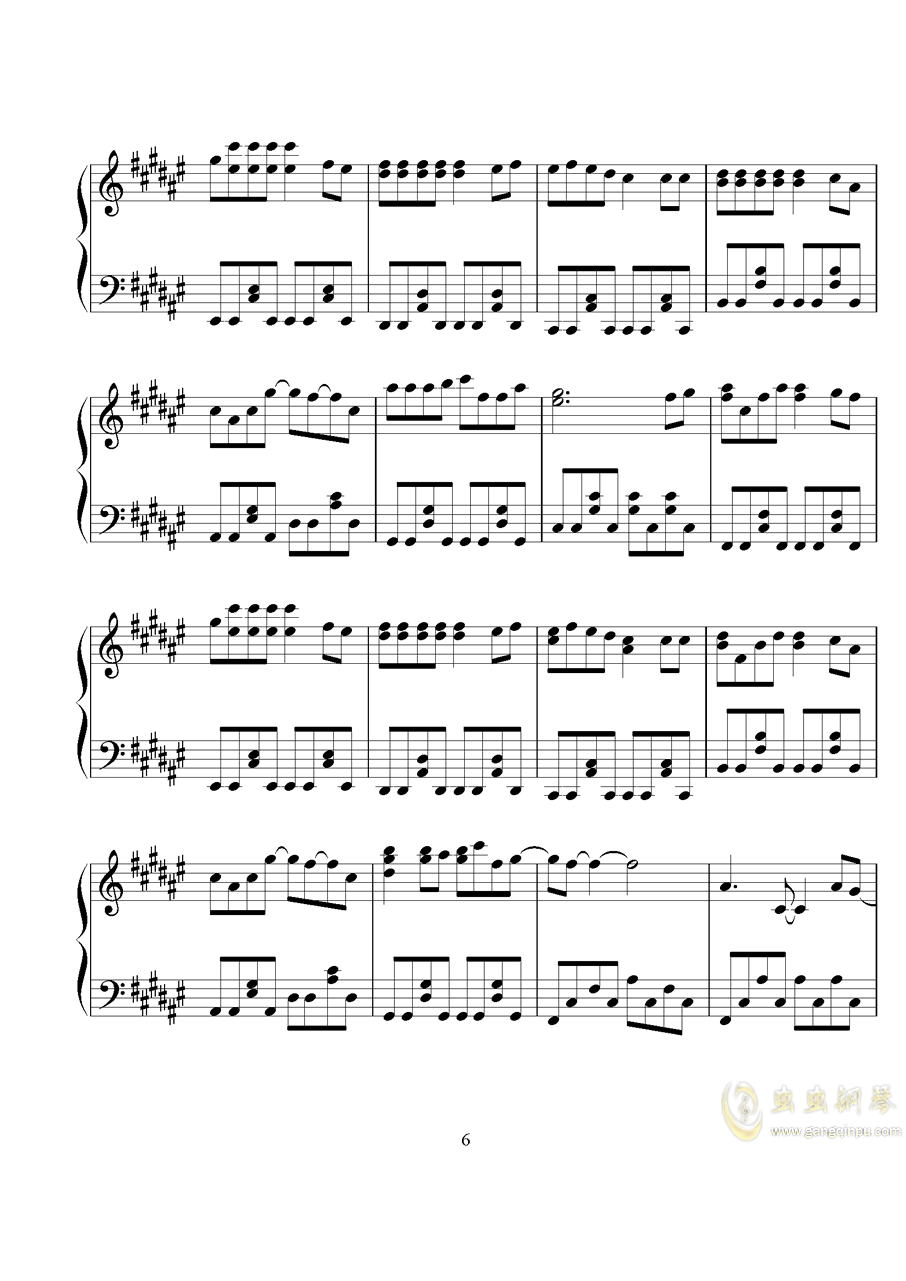 学猫叫钢琴谱 第6页