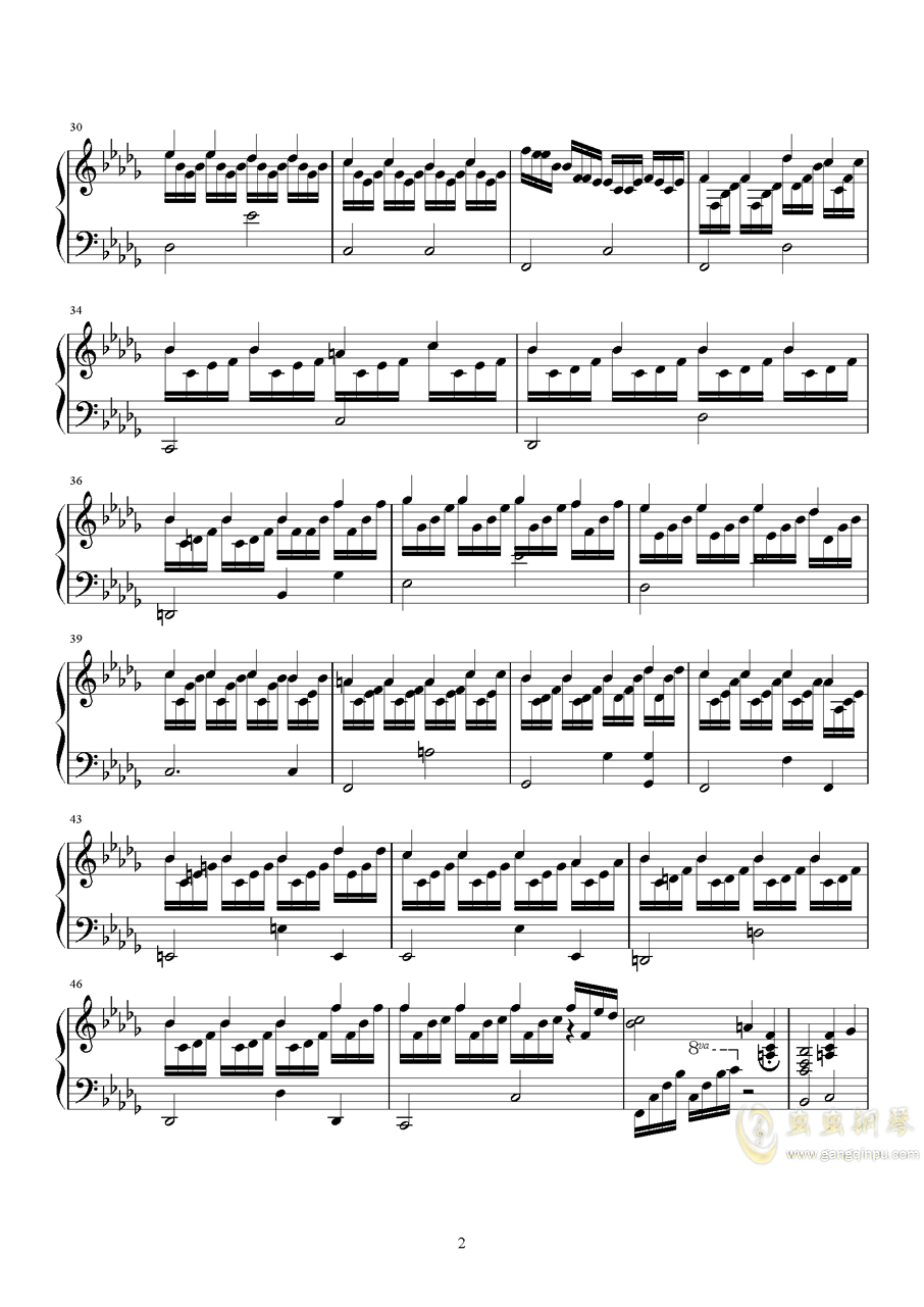 夏丿雪钢琴谱 第2页