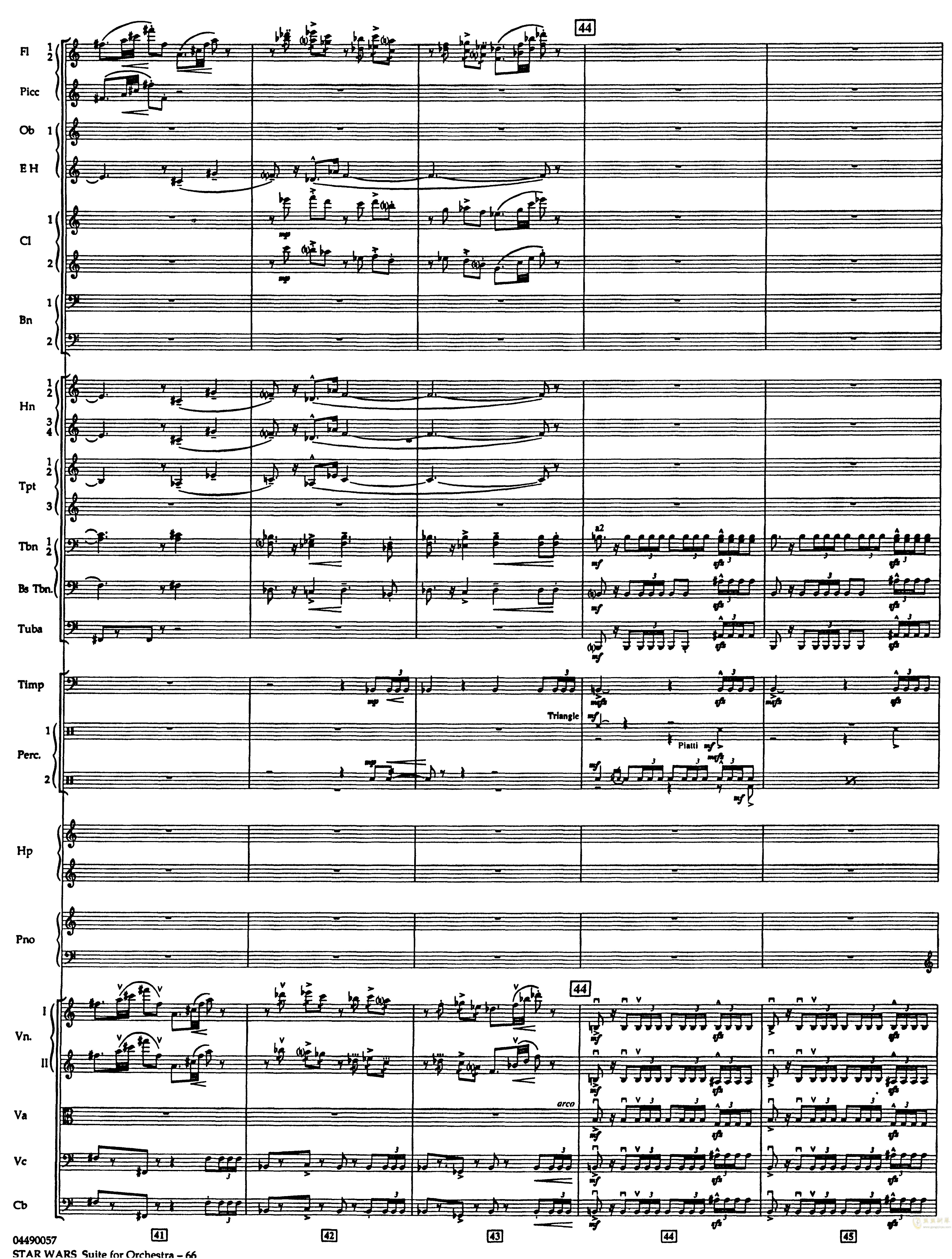 帝国进行曲总谱钢琴谱 第10页
