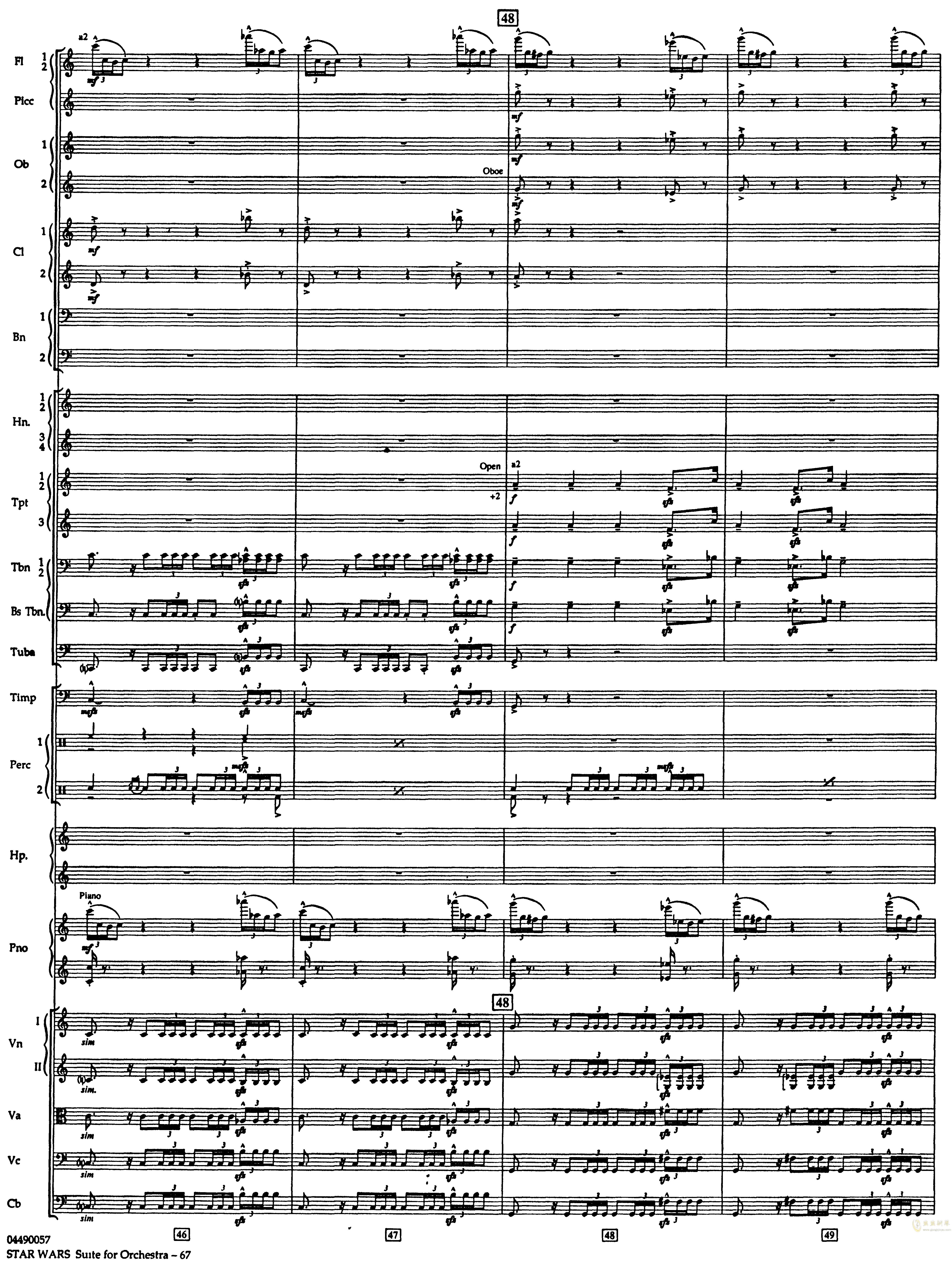 帝国进行曲总谱钢琴谱 第11页