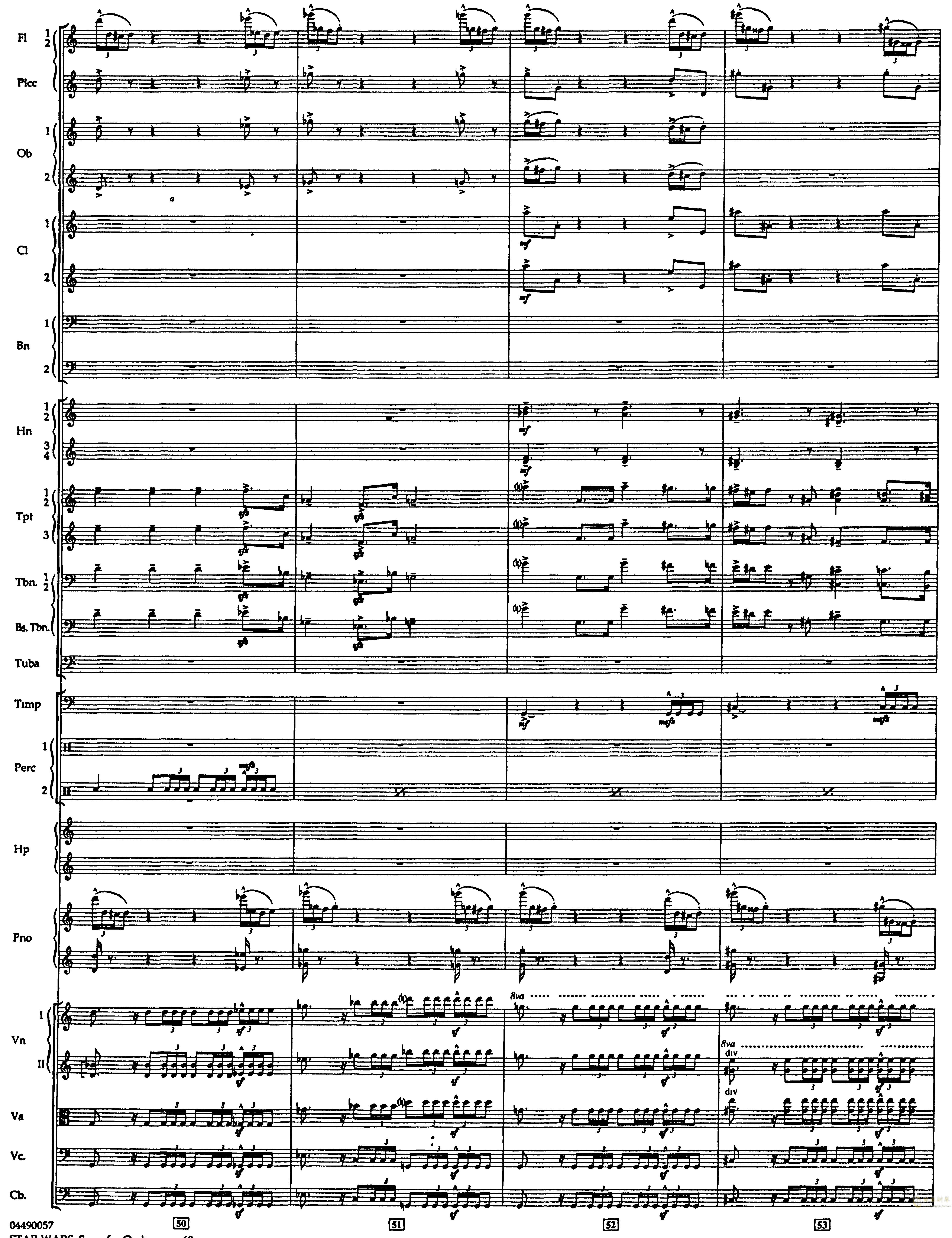 帝国进行曲总谱钢琴谱 第12页
