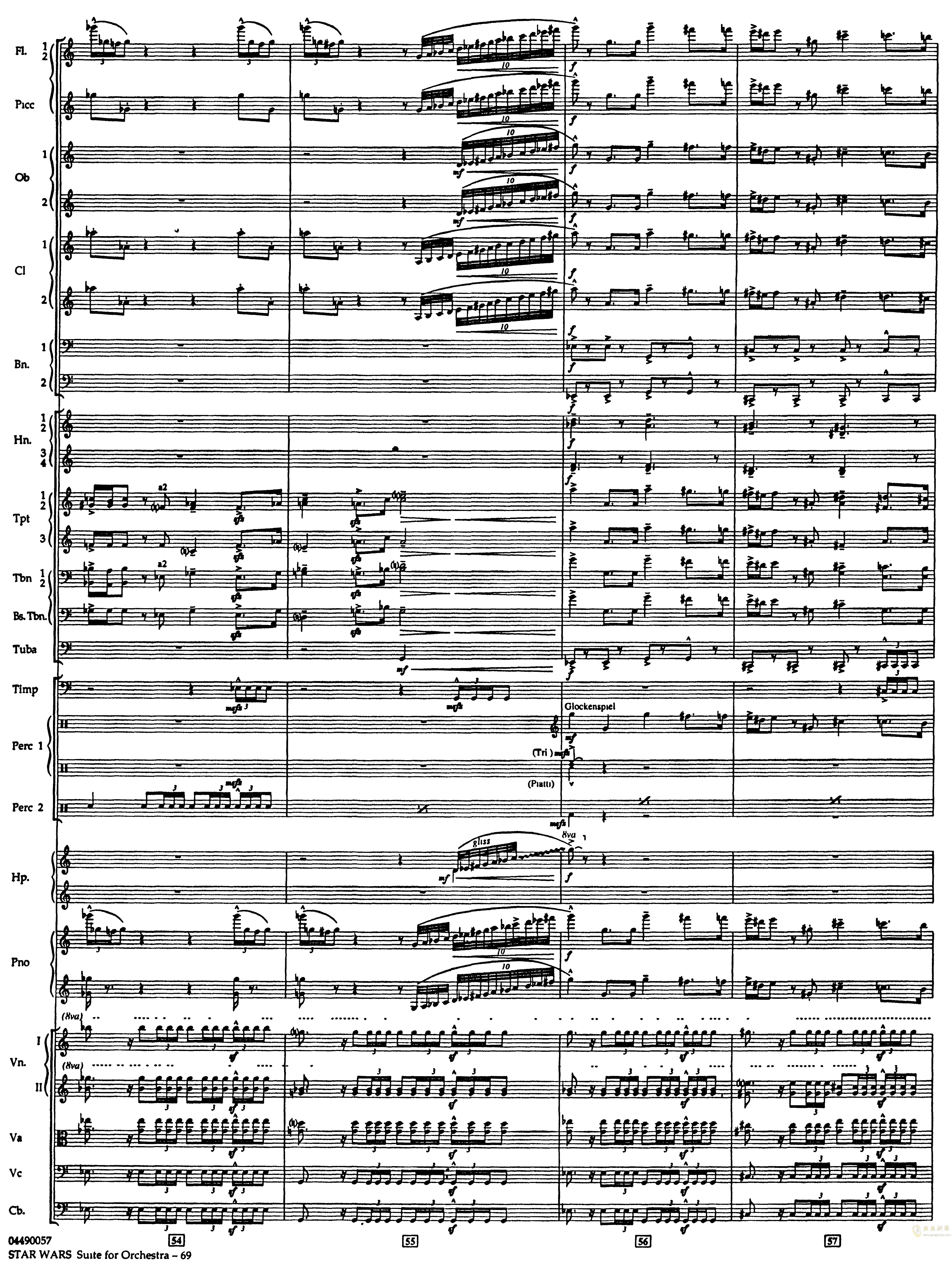 帝国进行曲总谱钢琴谱 第13页