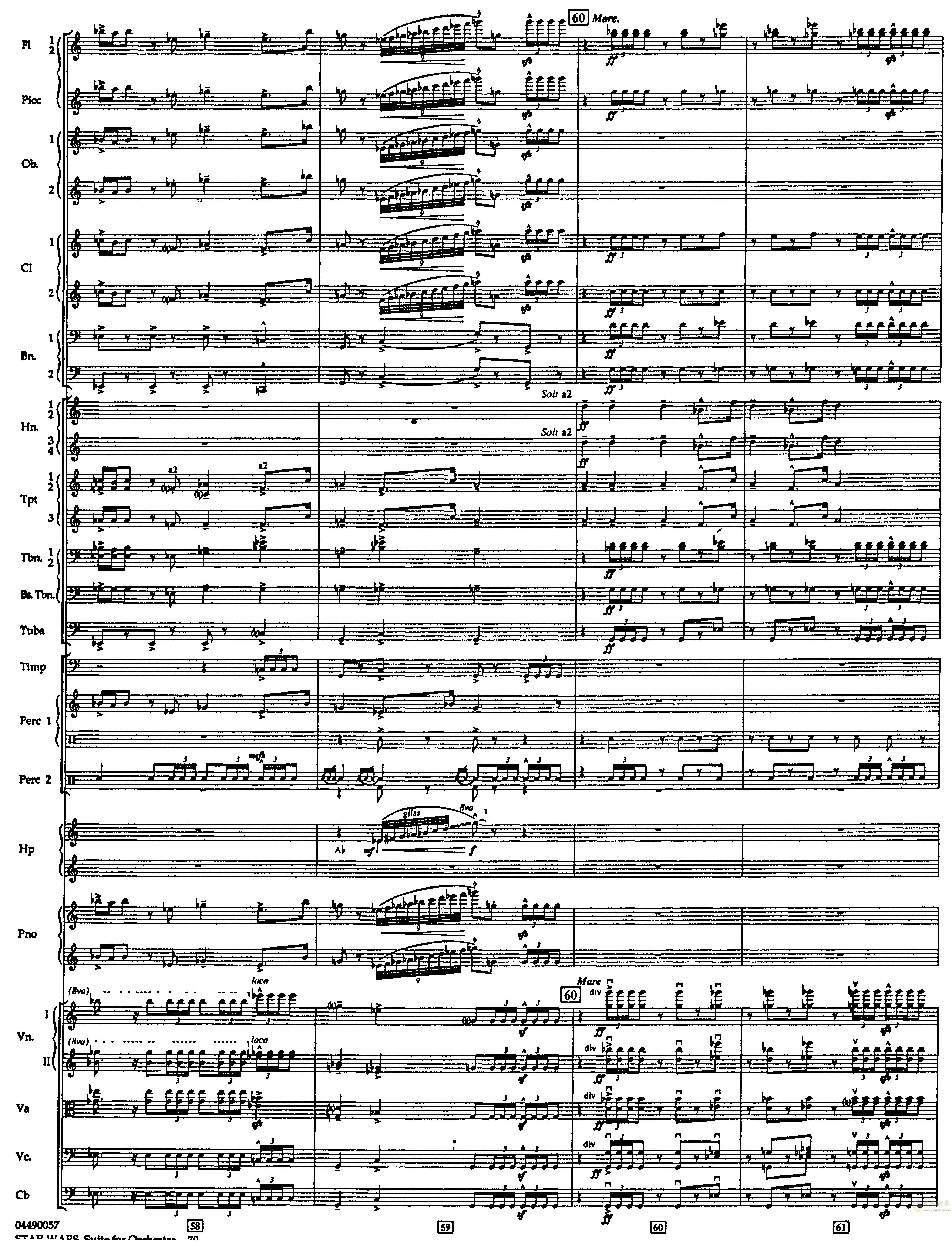 帝国进行曲总谱钢琴谱 第14页