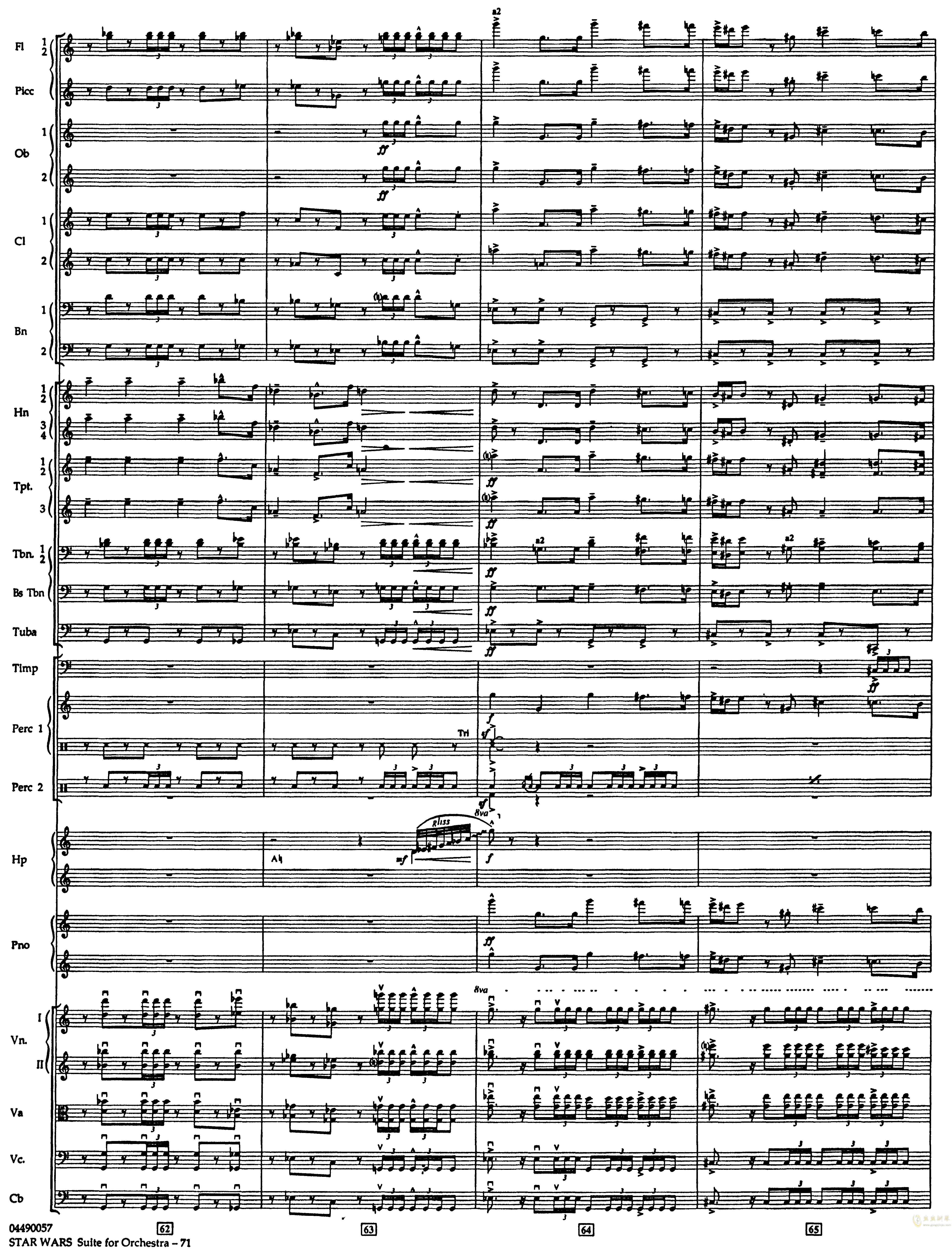 帝国进行曲总谱钢琴谱 第15页