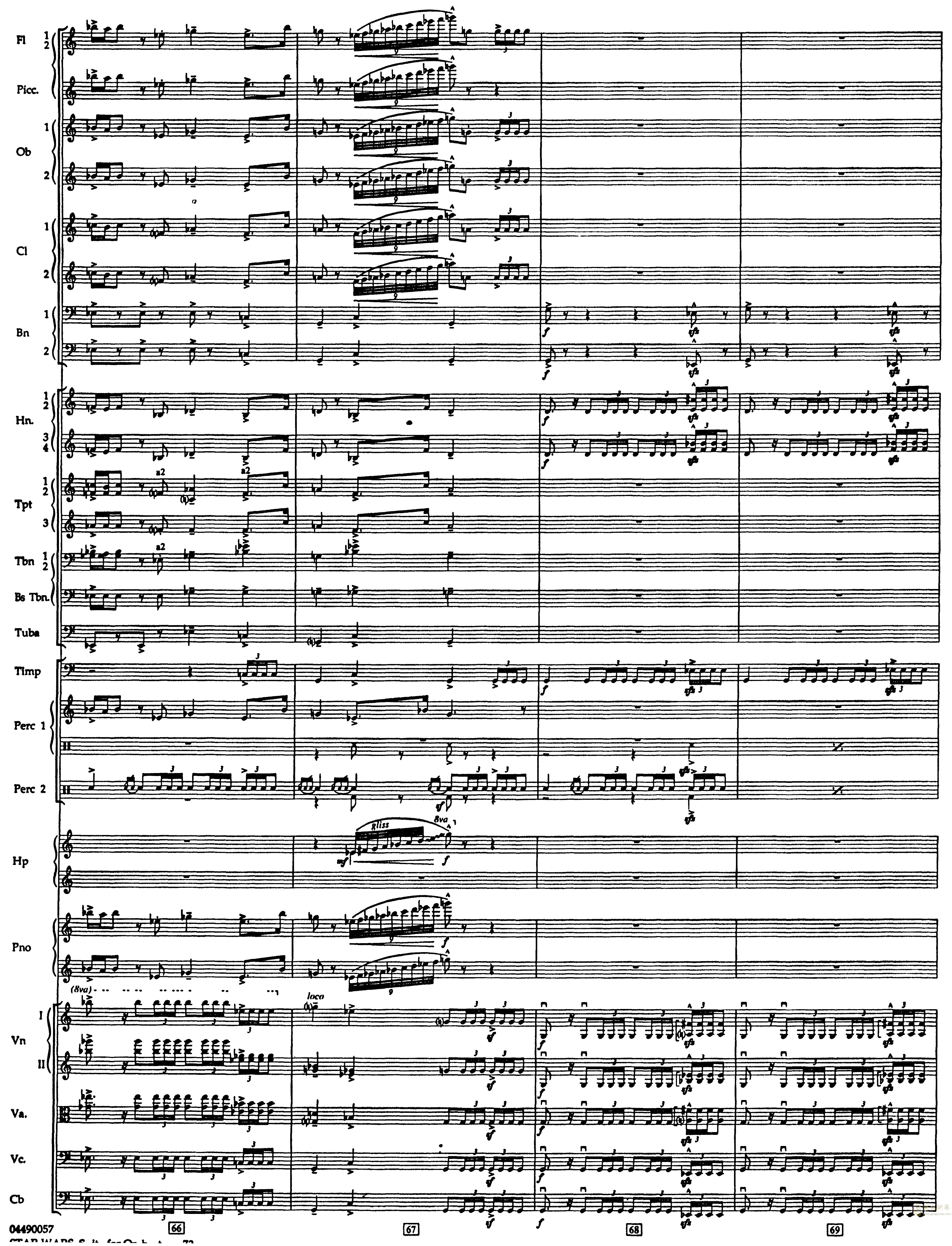 帝国进行曲总谱钢琴谱 第16页