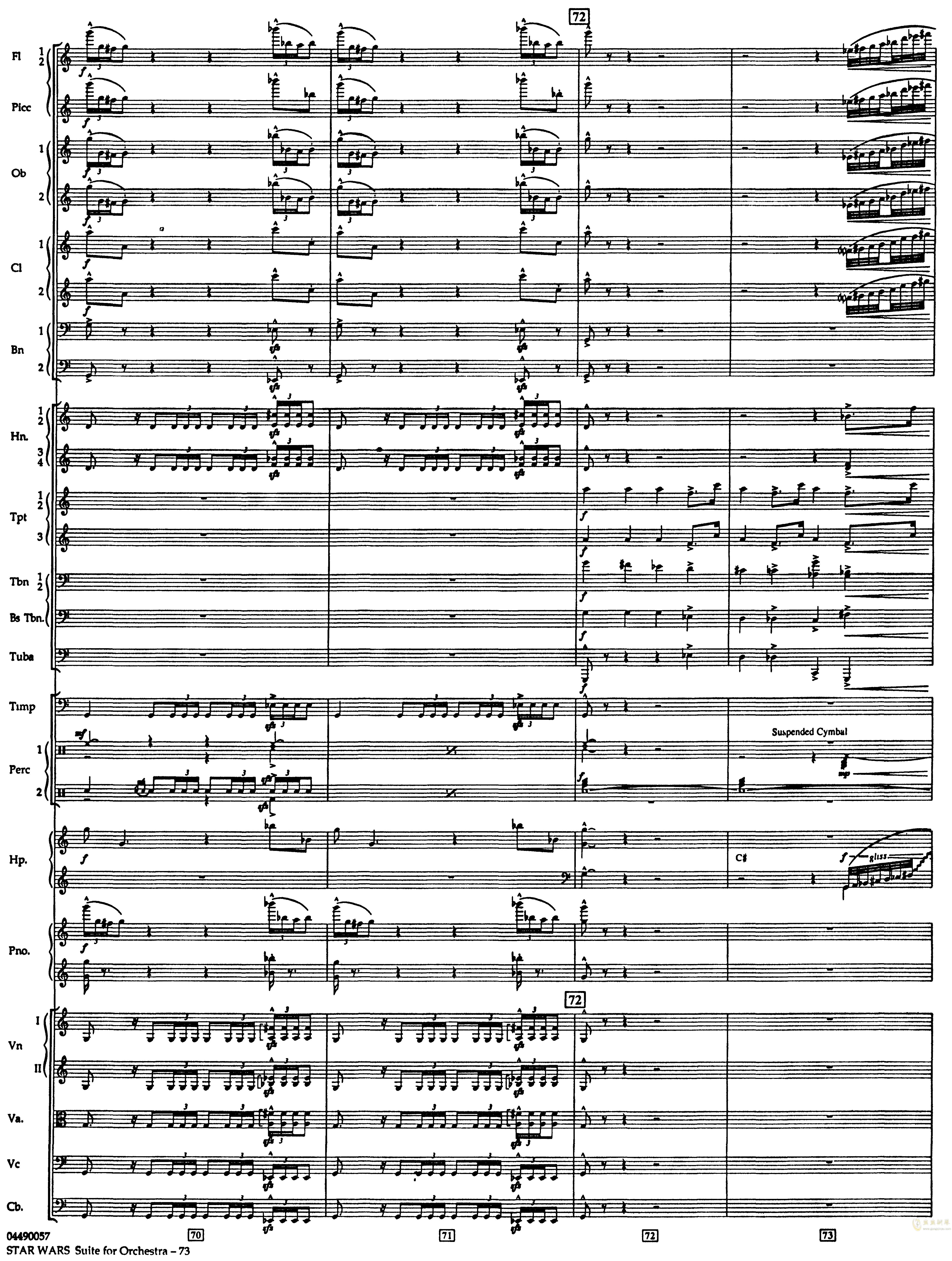 帝国进行曲总谱钢琴谱 第17页