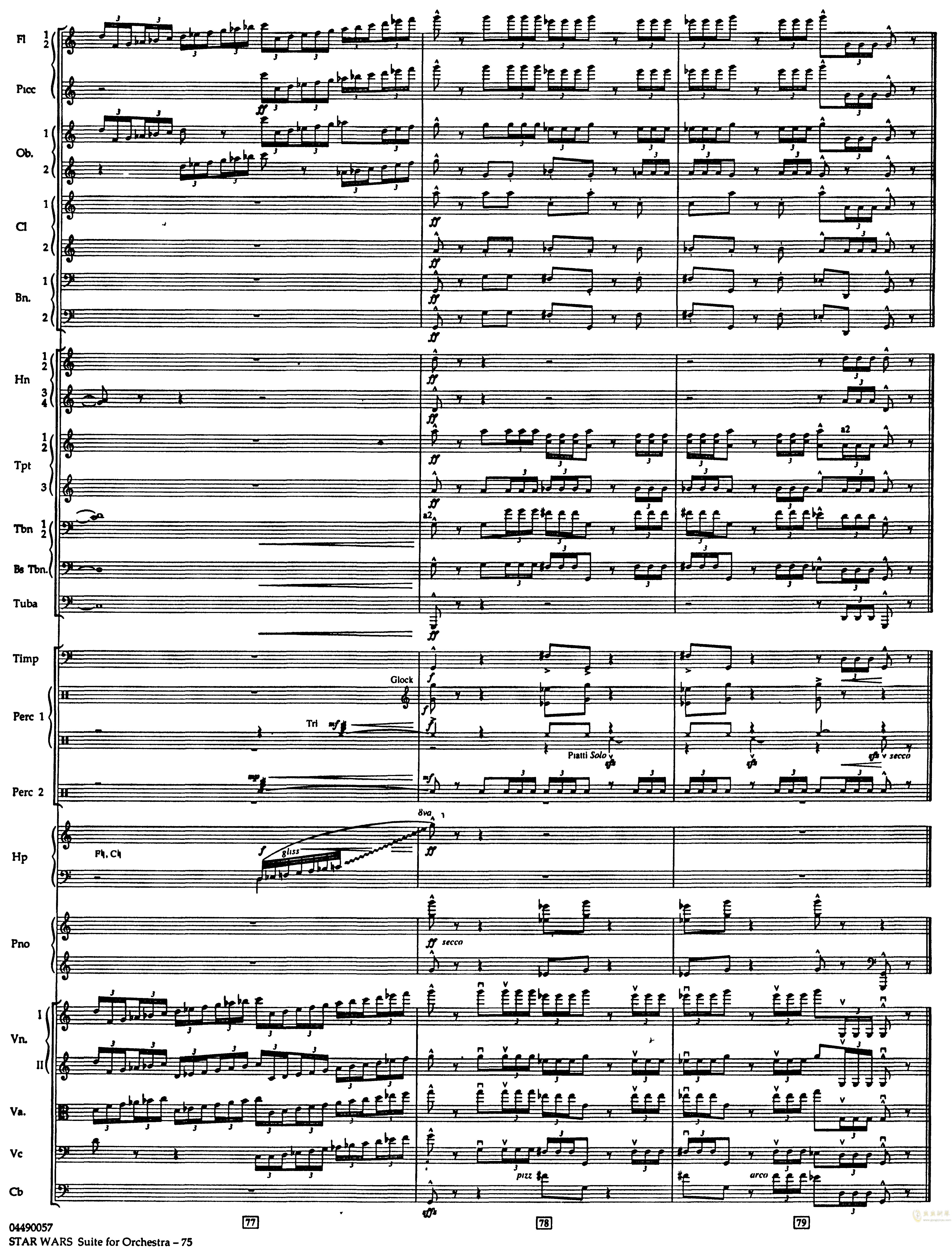 帝国进行曲总谱钢琴谱 第19页