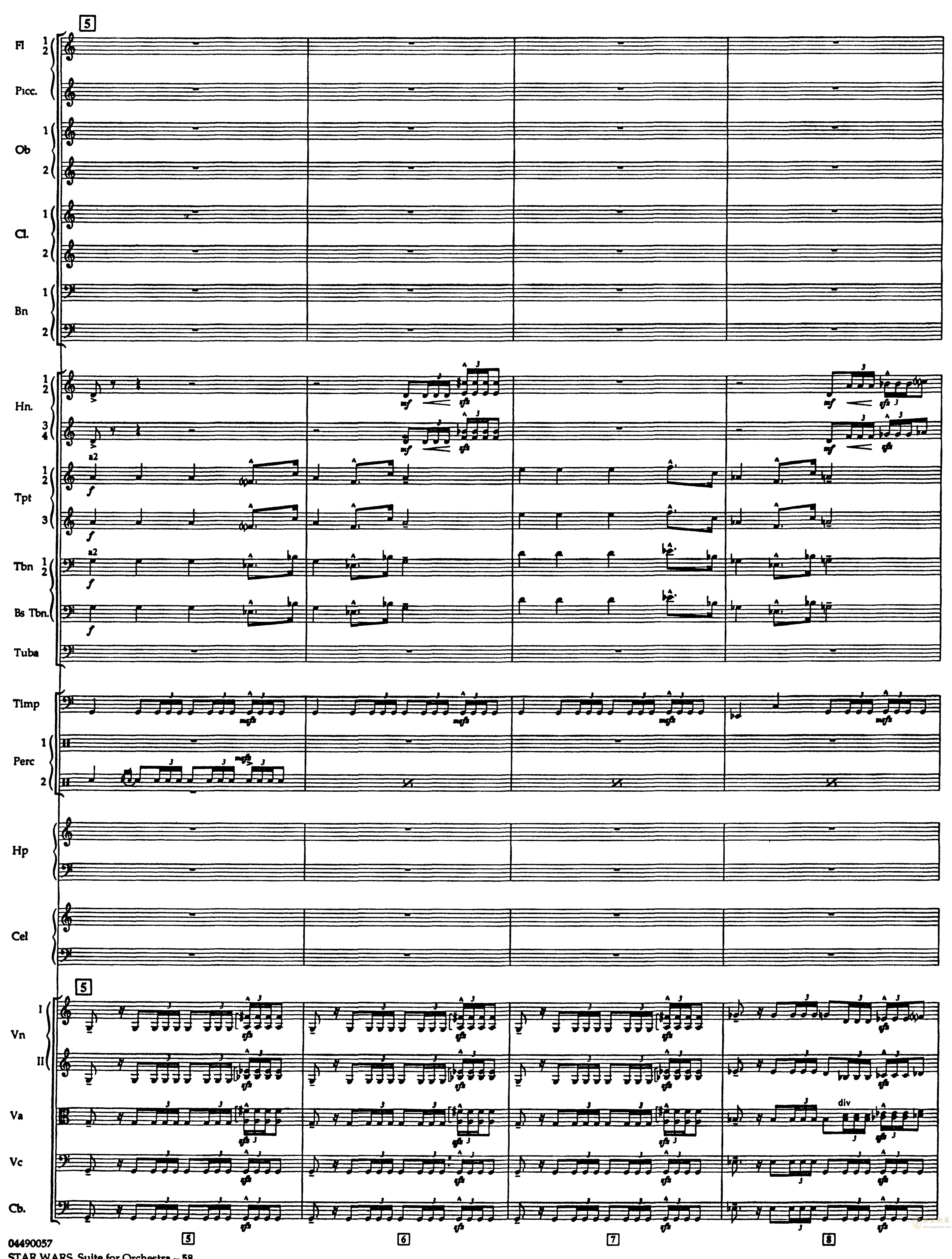 帝国进行曲总谱钢琴谱 第2页
