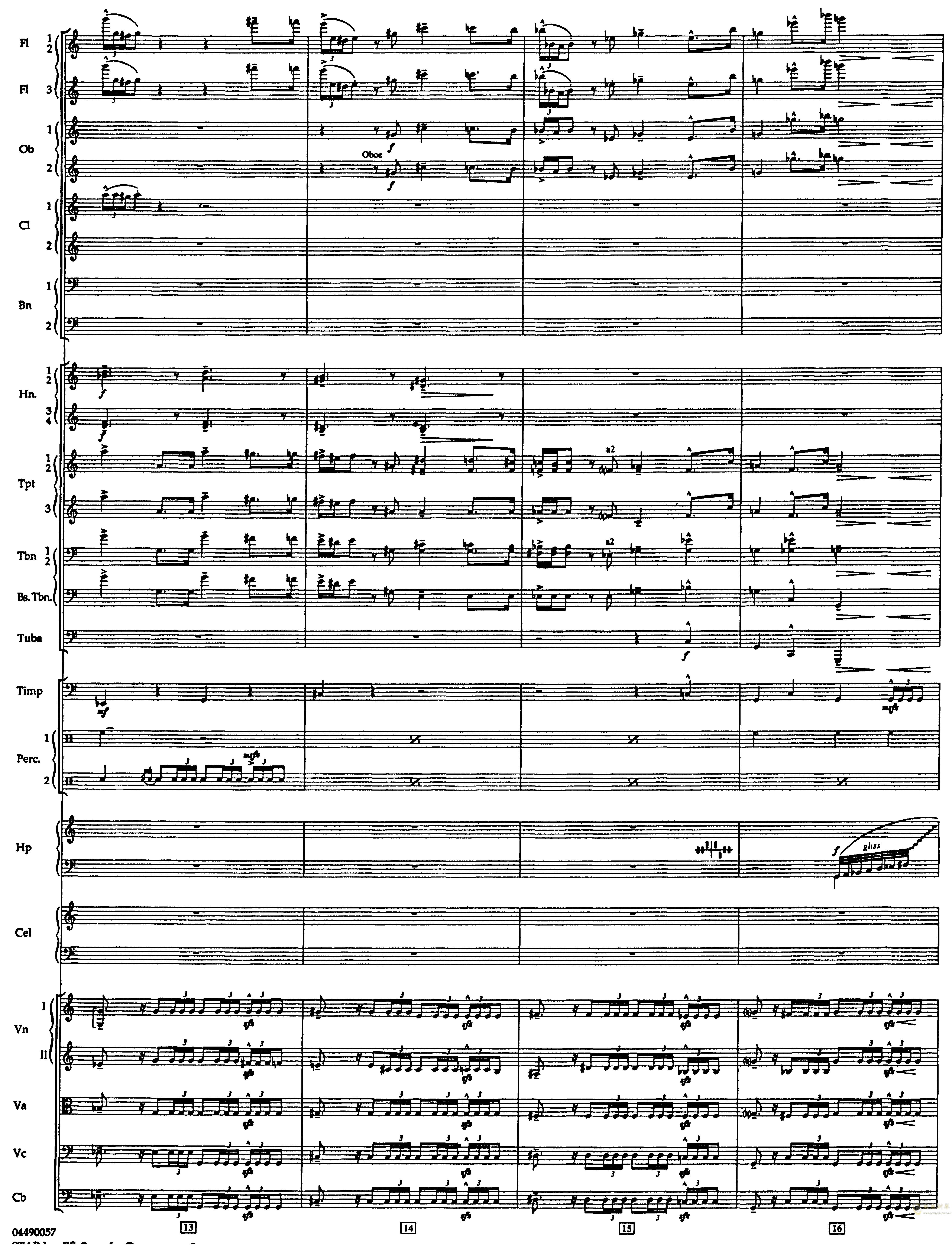 帝国进行曲总谱钢琴谱 第4页