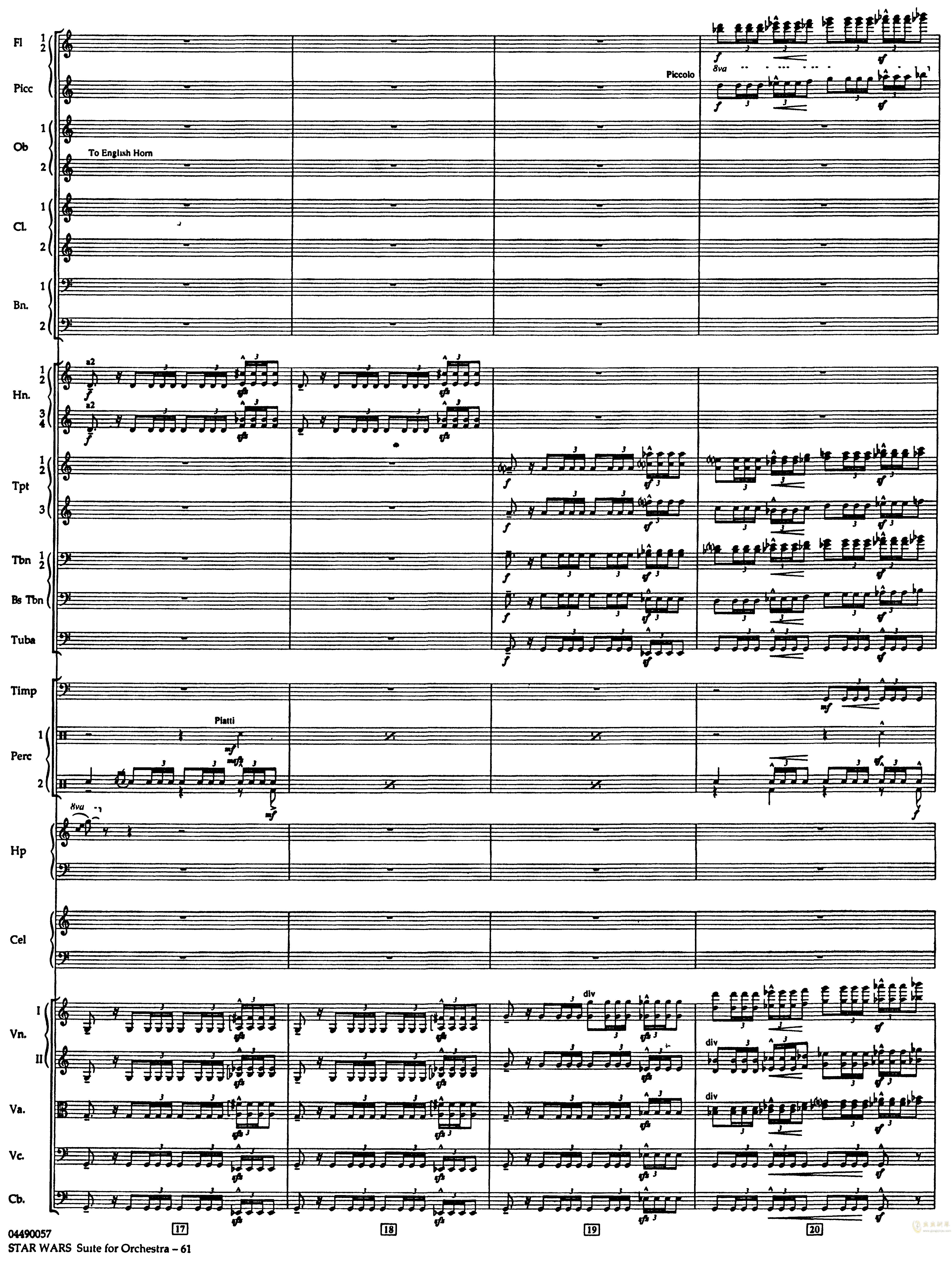 帝国进行曲总谱钢琴谱 第5页