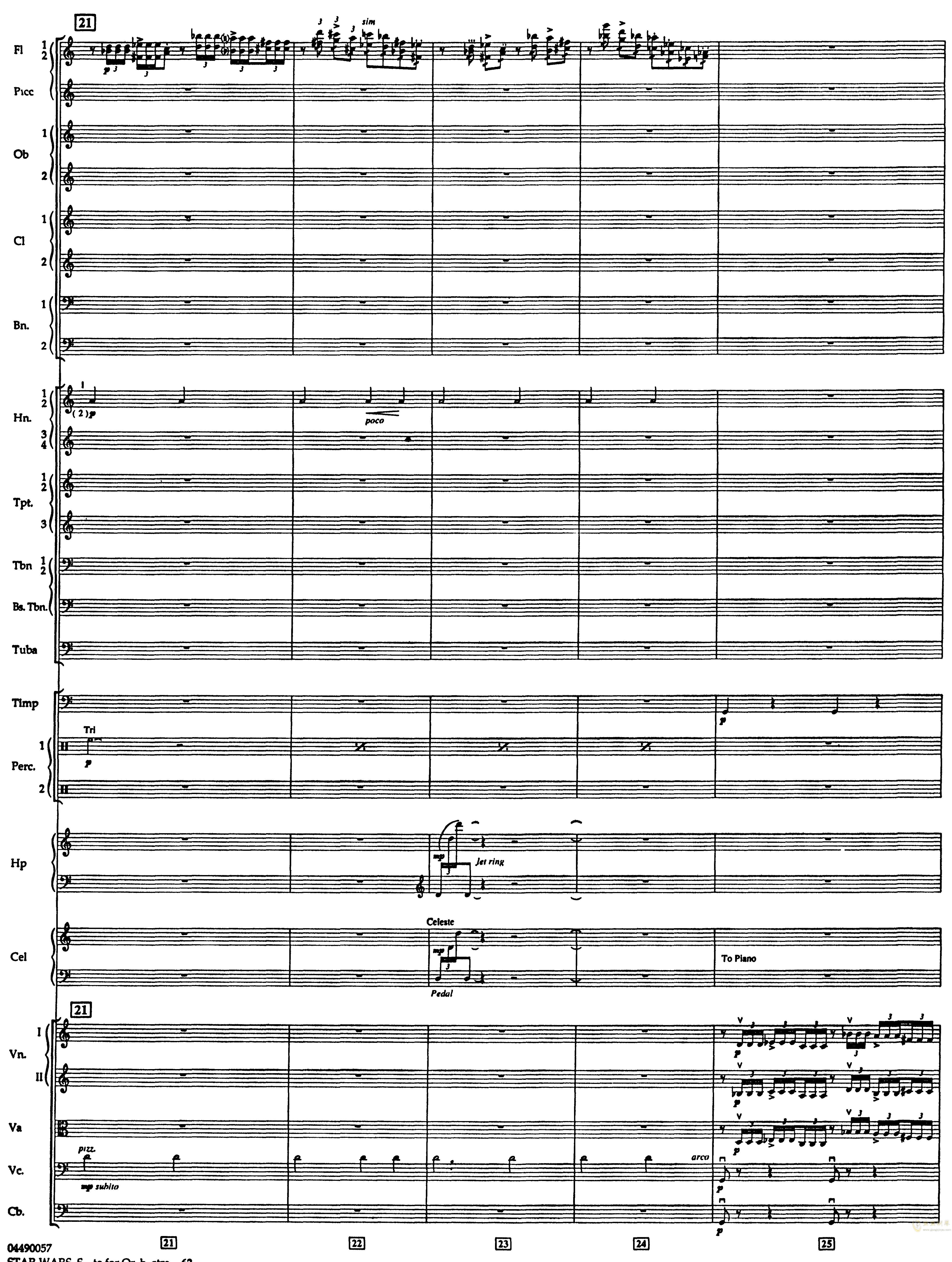 帝国进行曲总谱钢琴谱 第6页