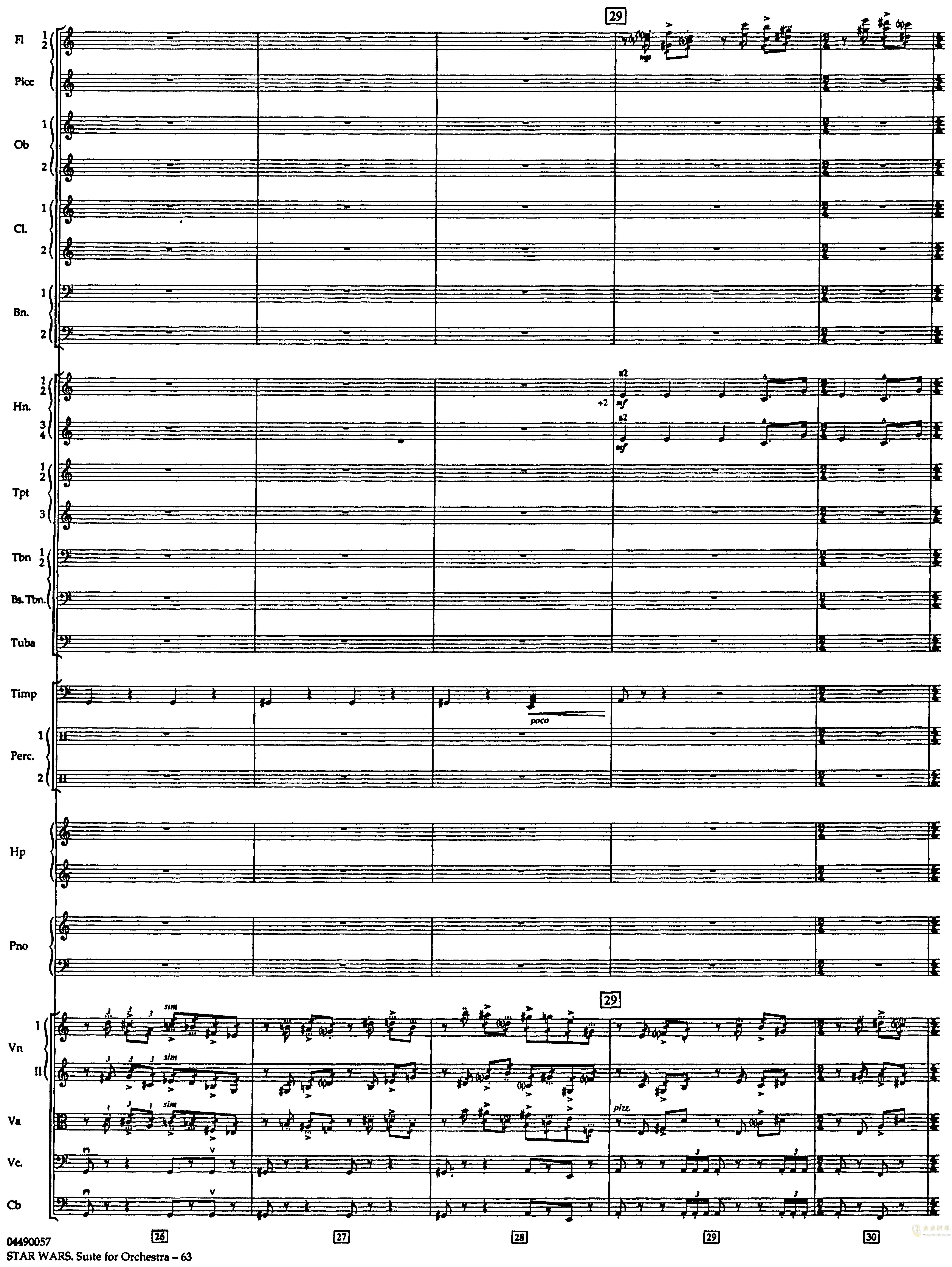 帝国进行曲总谱钢琴谱 第7页