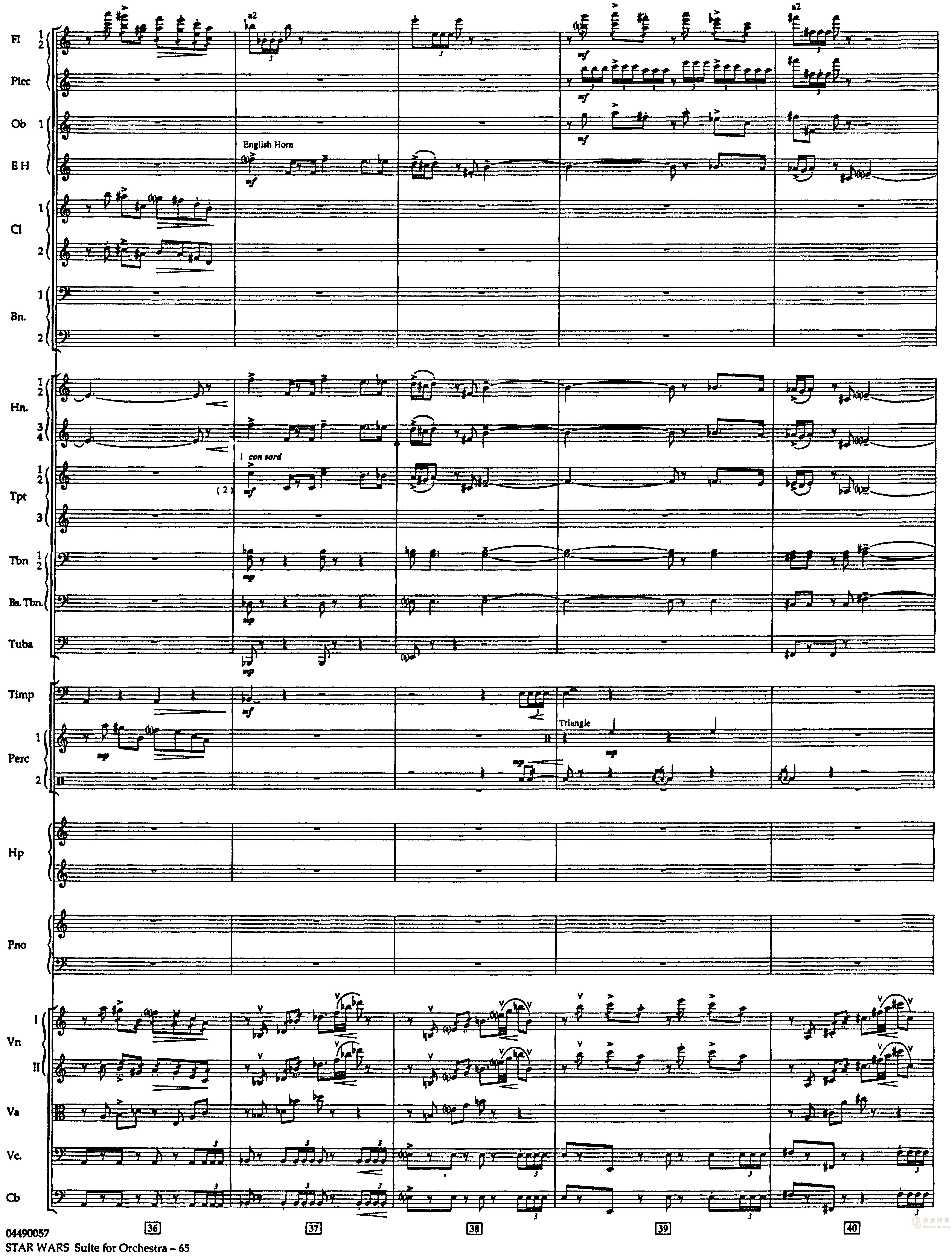 帝国进行曲总谱钢琴谱 第9页