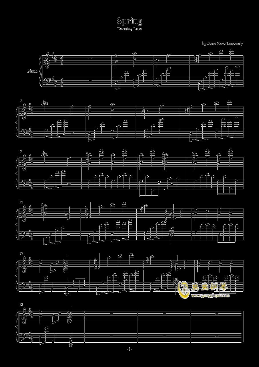 春天Spring钢琴谱 第1页