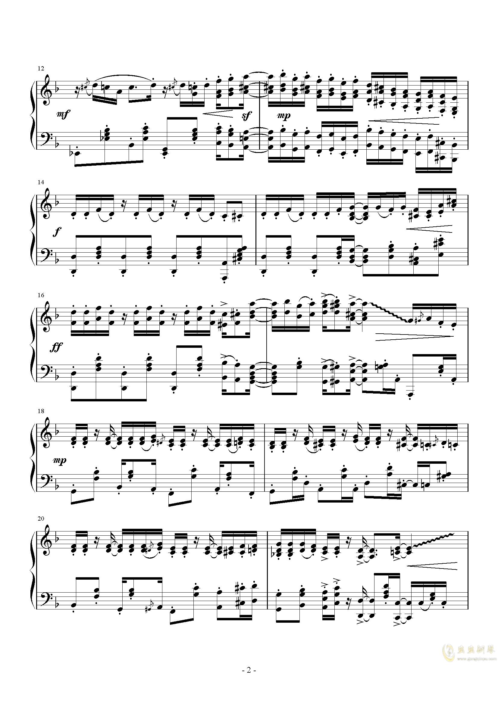 ��狂小爵士钢琴谱 第2页