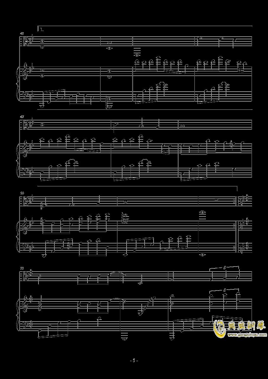 期待钢琴谱 第5页