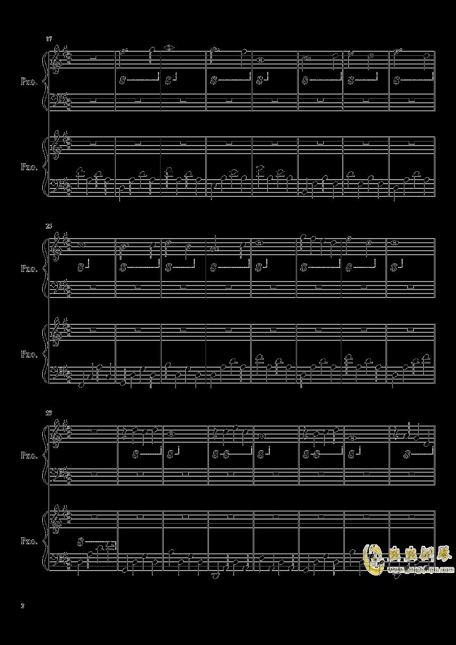 安魂曲钢琴谱 第2页