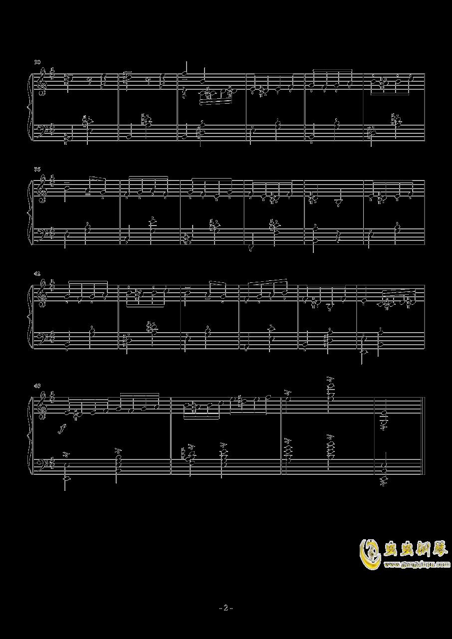 小丑钢琴谱 第2页