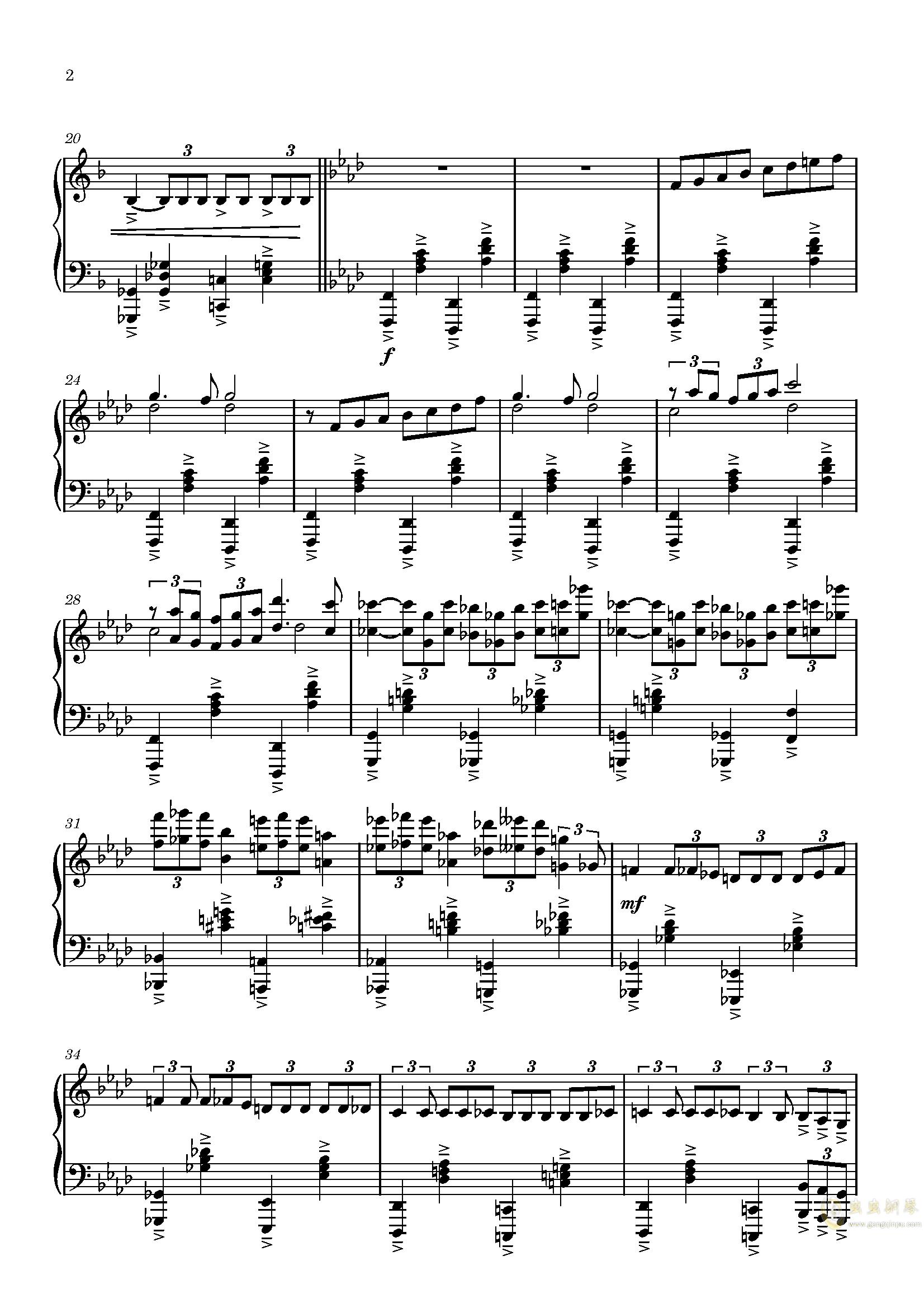 中世纪教堂的花瓶钢琴谱 第2页