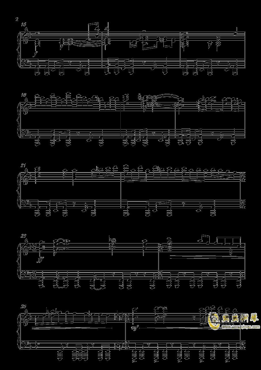 炎妃龙主题曲钢琴谱 第2页