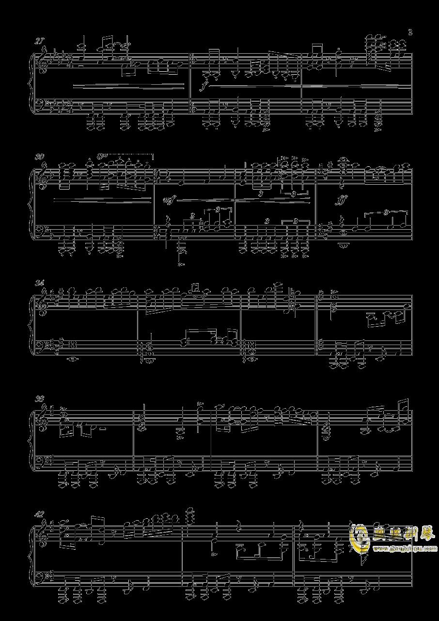 炎妃龙主题曲钢琴谱 第3页