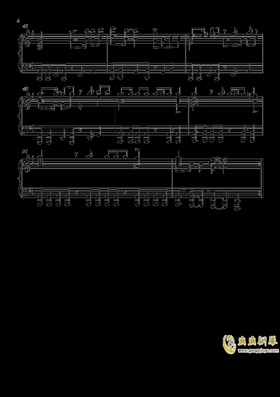 炎妃龙主题曲钢琴谱 第4页